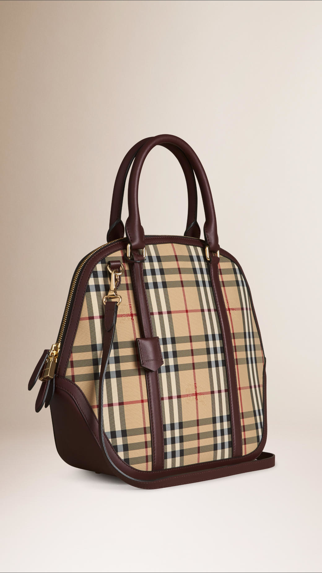 3b335fff7e9e Lyst - Burberry The Large Orchard In Horseferry Check in Natural