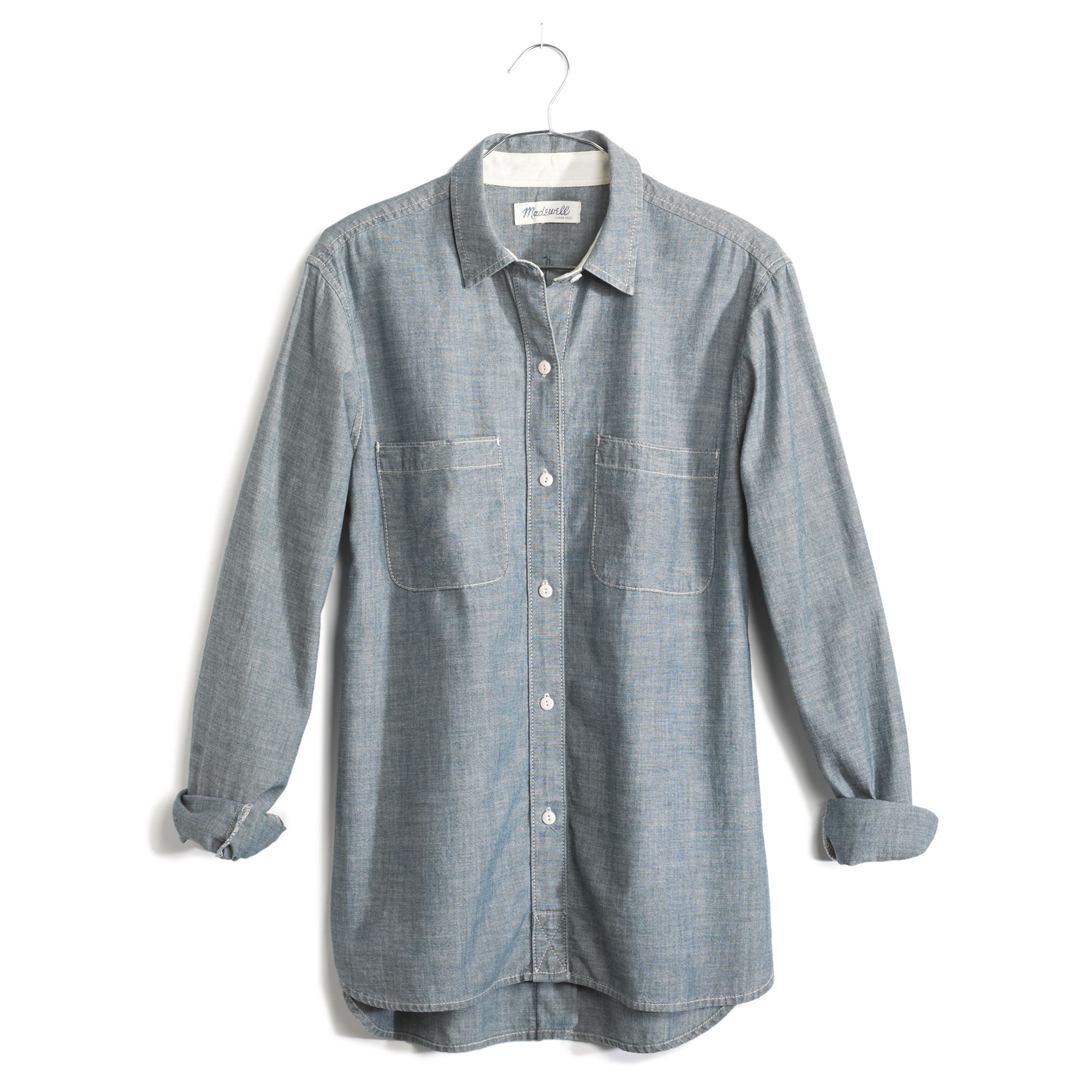 Madewell The Perfect Chambray Shirt In Wilder Wash in Blue ...