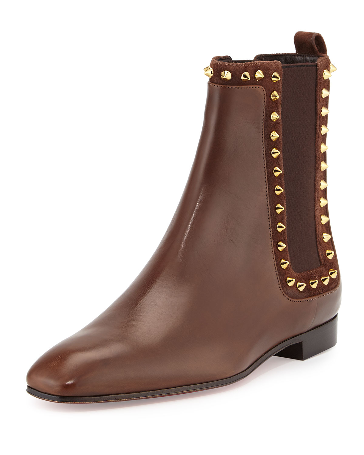 christian louboutin flat ankle boots