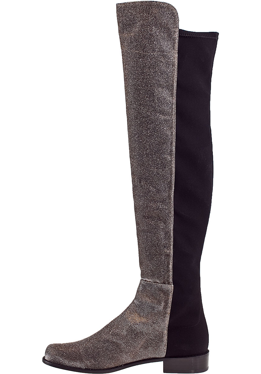 stuart weitzman 5050 the knee boot pyrite fabric in