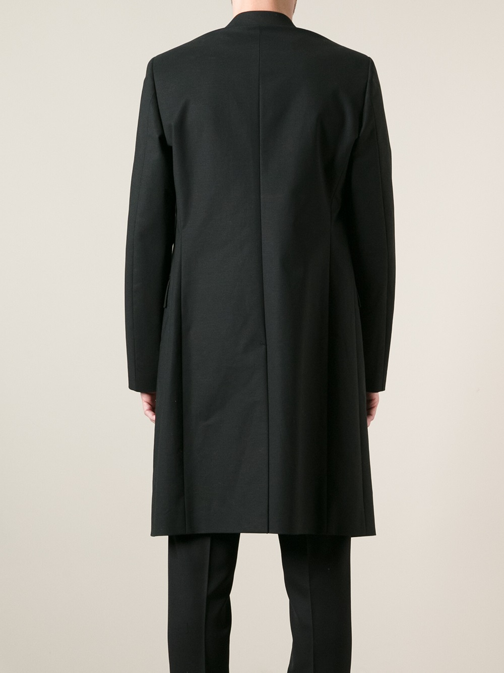 Raf Simons Minimalist Lightweight Overcoat In Black For