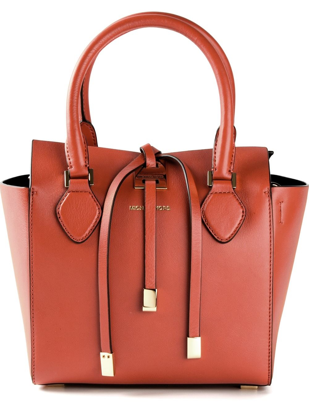 c1f684454f40 ... france lyst michael kors extra small miranda tote in orange b0a2c eeb0c