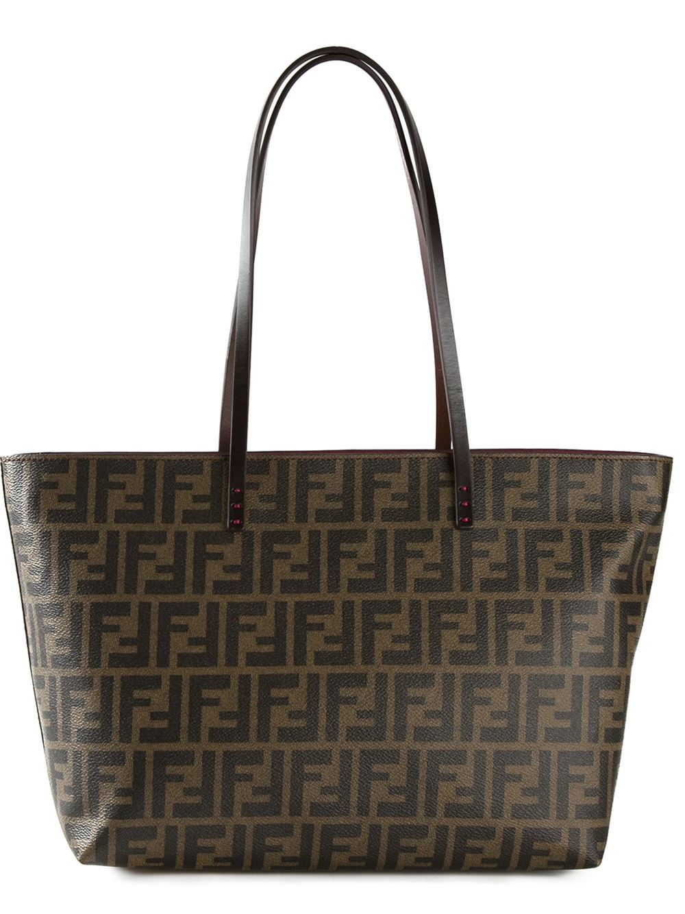 Lyst - Fendi Ff Logo  roll  Tote Bag in Brown b4866ff5411f4