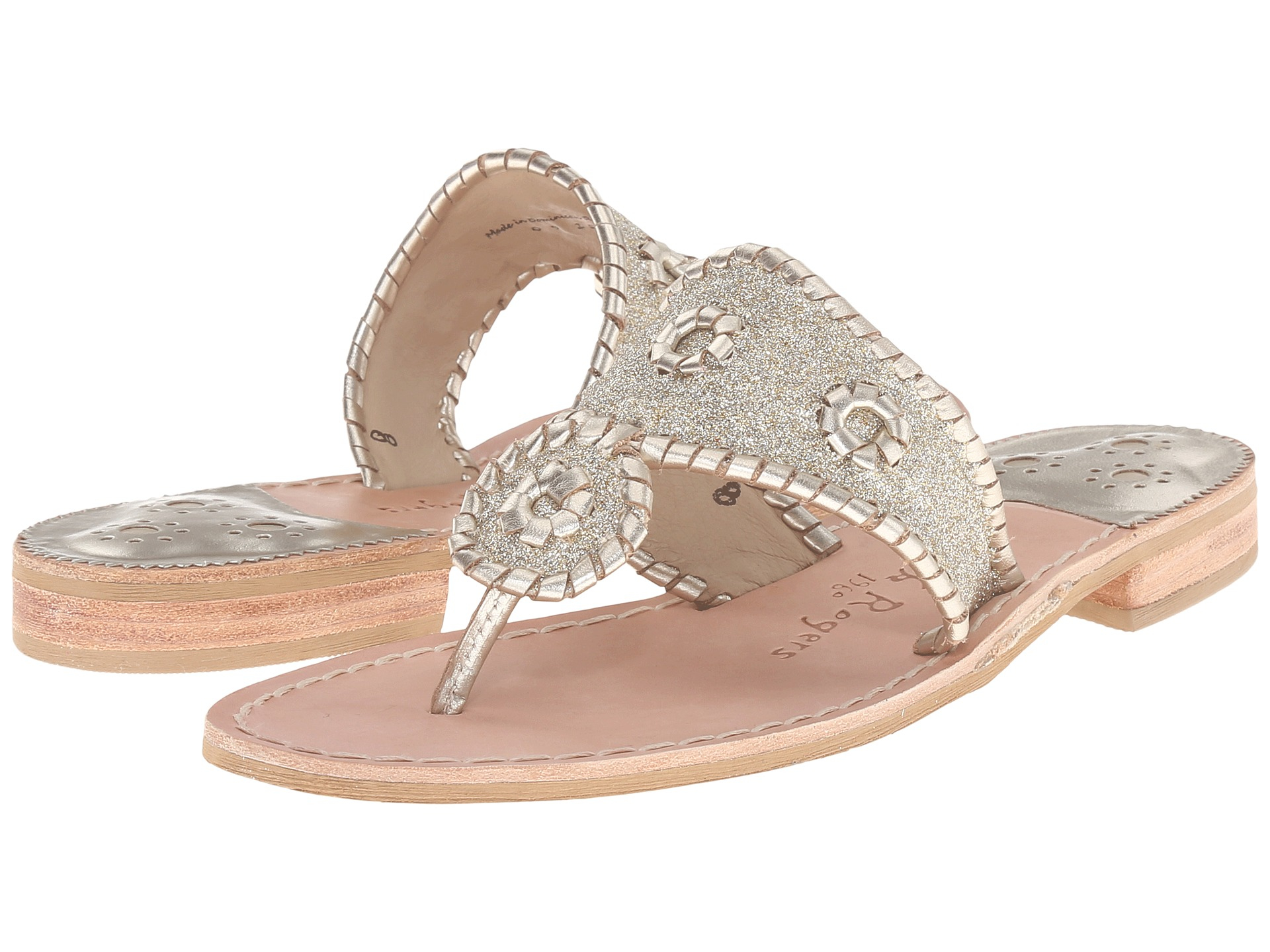 Jack rogers Sparkle in Natural | Lyst: https://www.lyst.com/shoes/jack-rogers-sparkle-platinum/