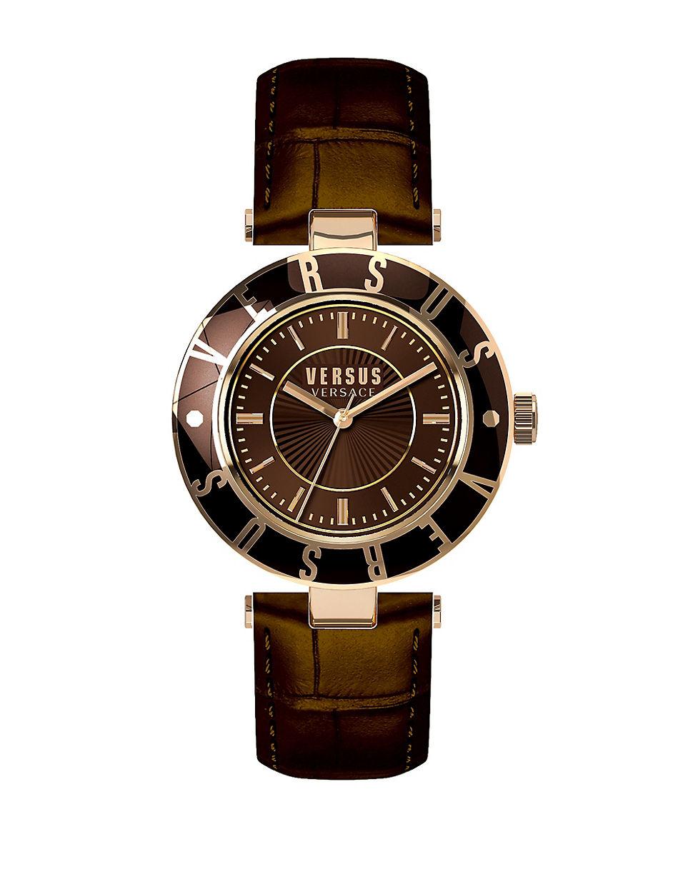 versus brown logo leather sp8170015 in brown