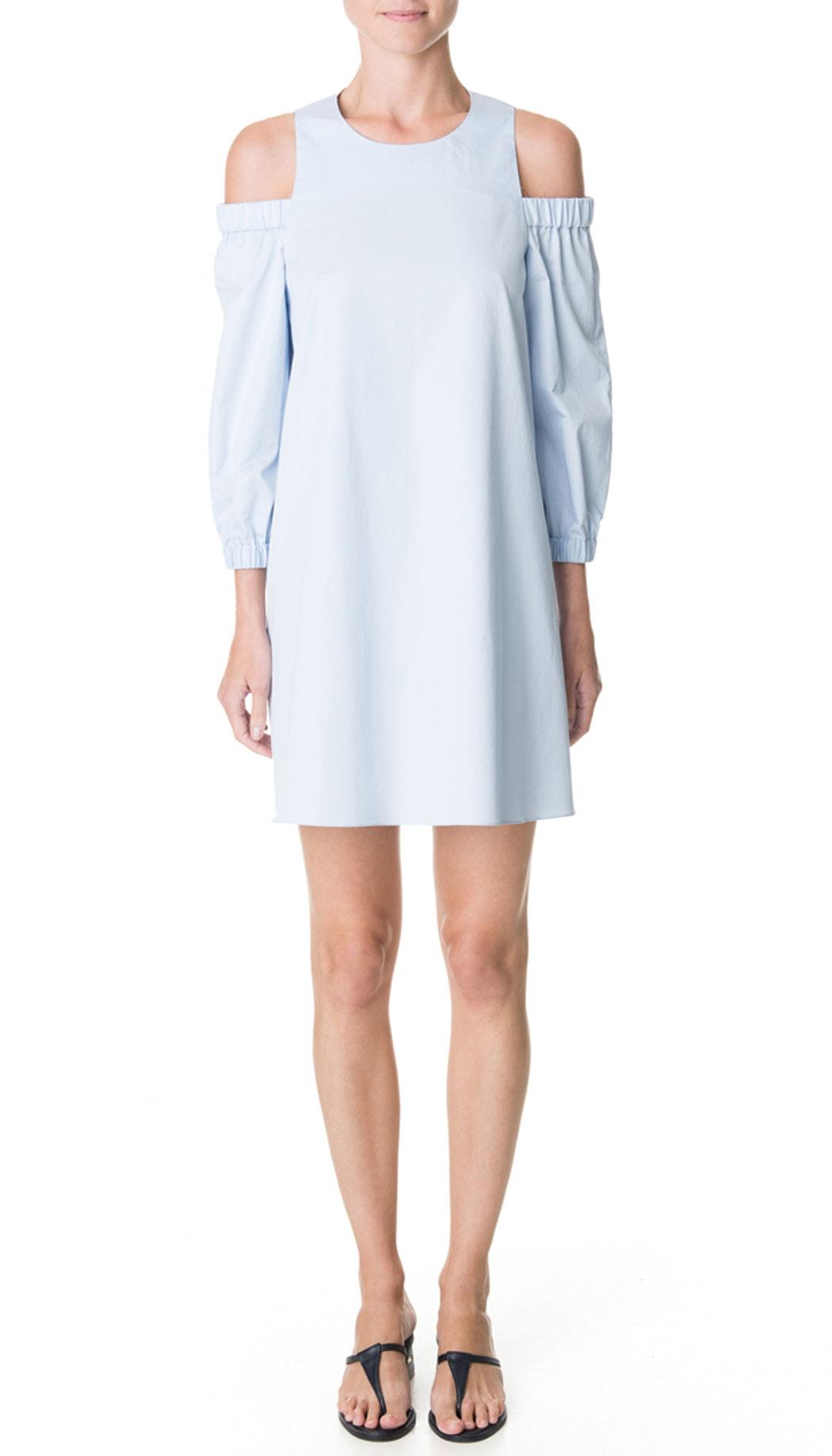 Tibi Cutout Satin Dress in Blue | Lyst