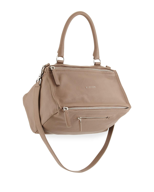 Lyst - Givenchy Pandora Medium Leather Satchel Bag in Natural d337a7527d271