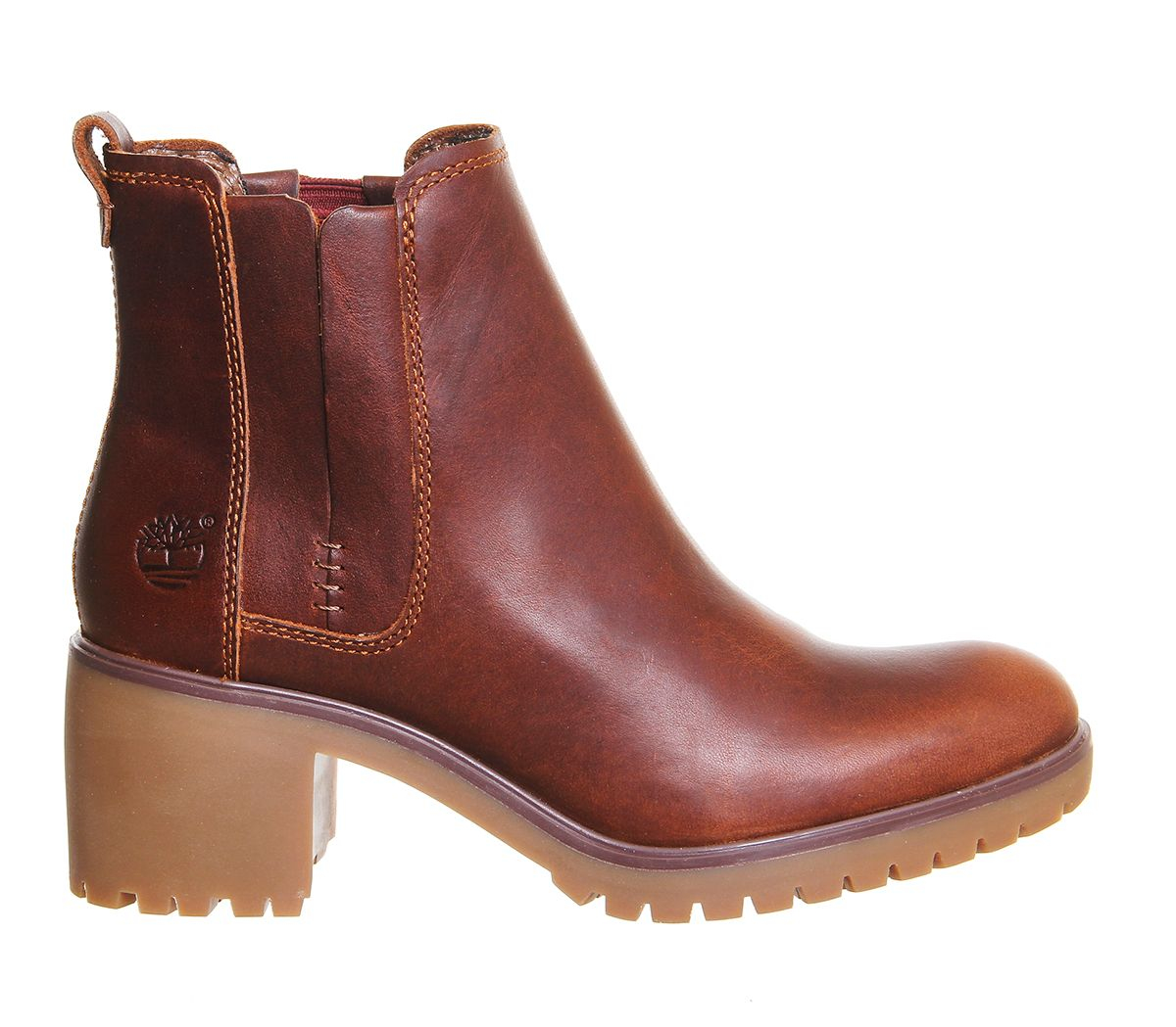 timberland averly chelsea boots in brown lyst. Black Bedroom Furniture Sets. Home Design Ideas