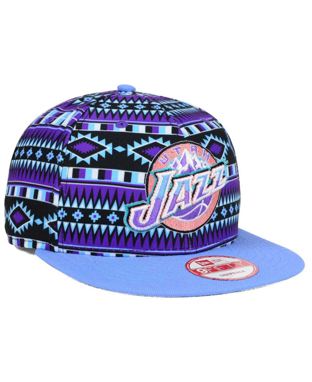 brand new 5445e 8f68d ... where can i buy lyst ktz utah jazz hwc tri all print 9fifty snapback  cap in