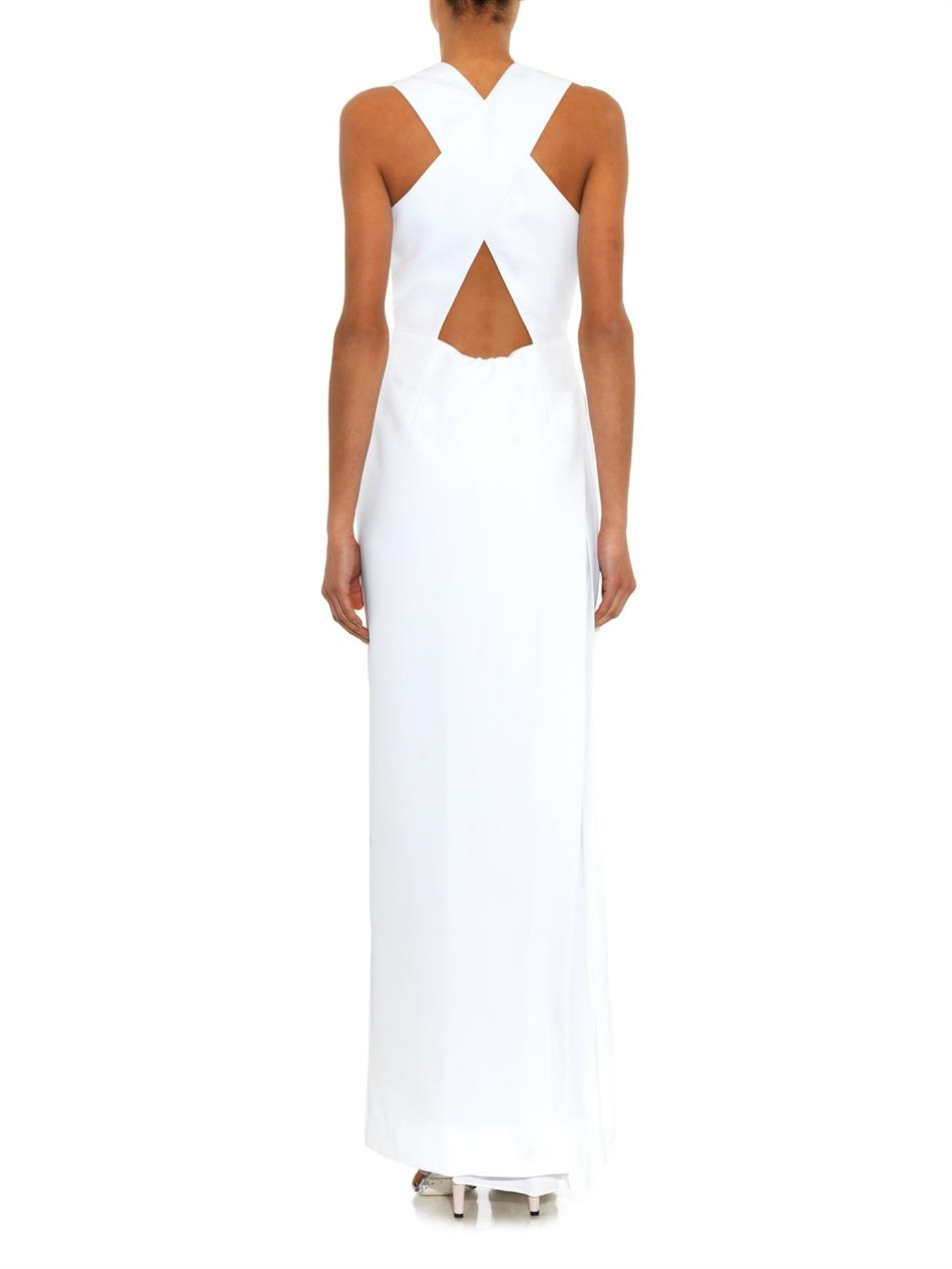 519391fcda251 Lyst - Camilla   Marc Gold-dipper V-neck Gown in White