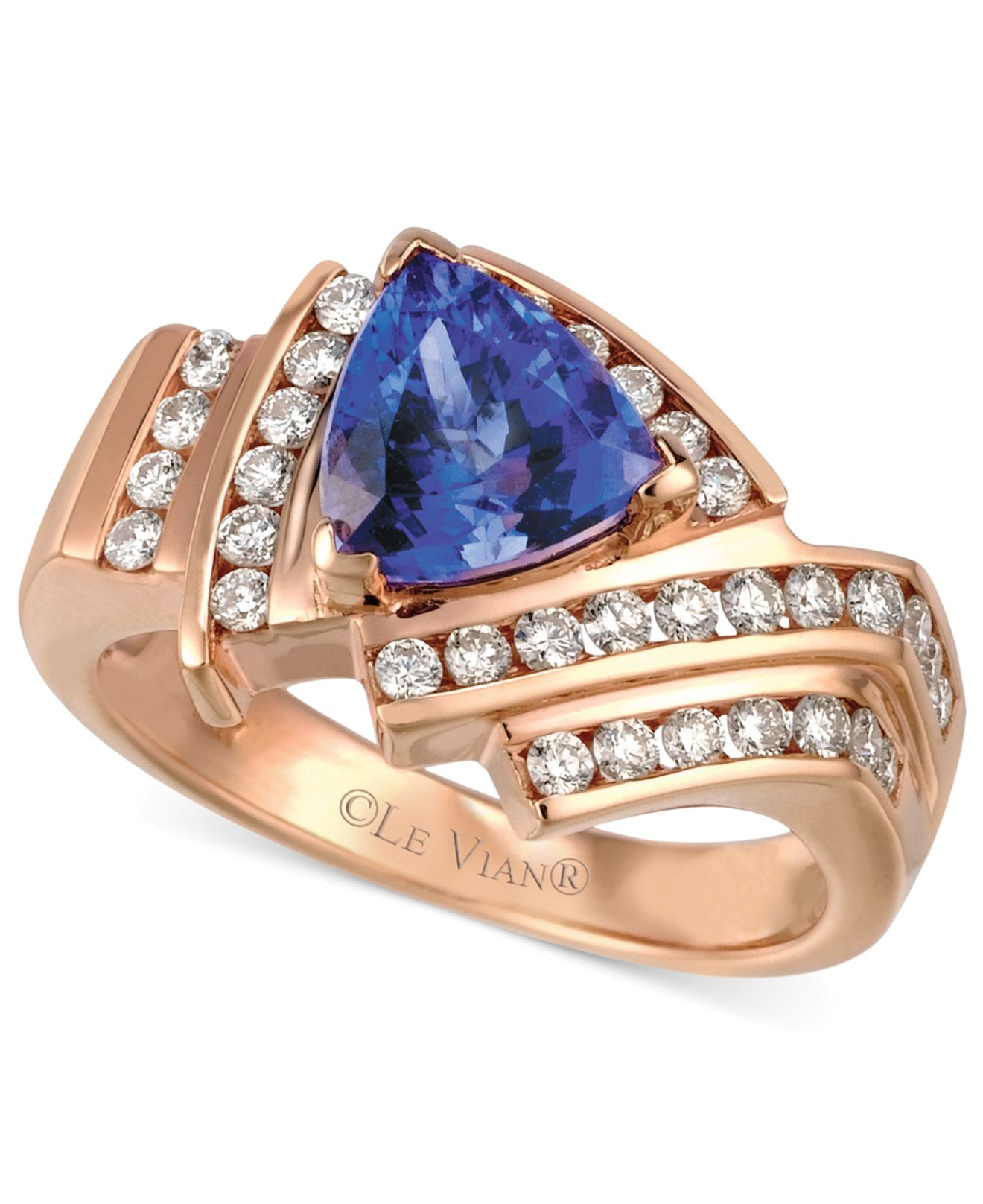 gold ring diamond vian tanzanite vanilla le chocolatier sp color fashion