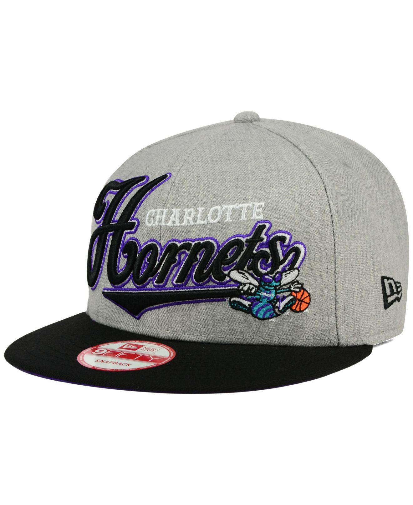 wholesale dealer 930b6 19acd ... norway lyst ktz charlotte hornets big heather 9fifty snapback cap in  gray ff8d8 d0142