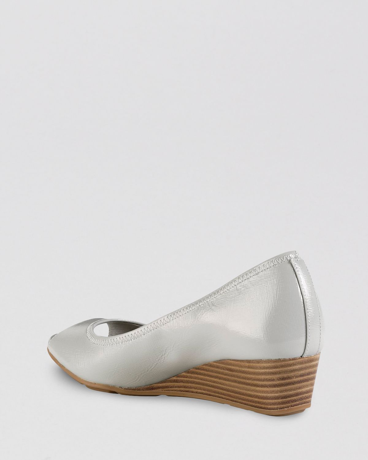 7dd9c665bbd2 Lyst - Cole Haan Peep Toe Wedge Pumps - Air Tali in Gray