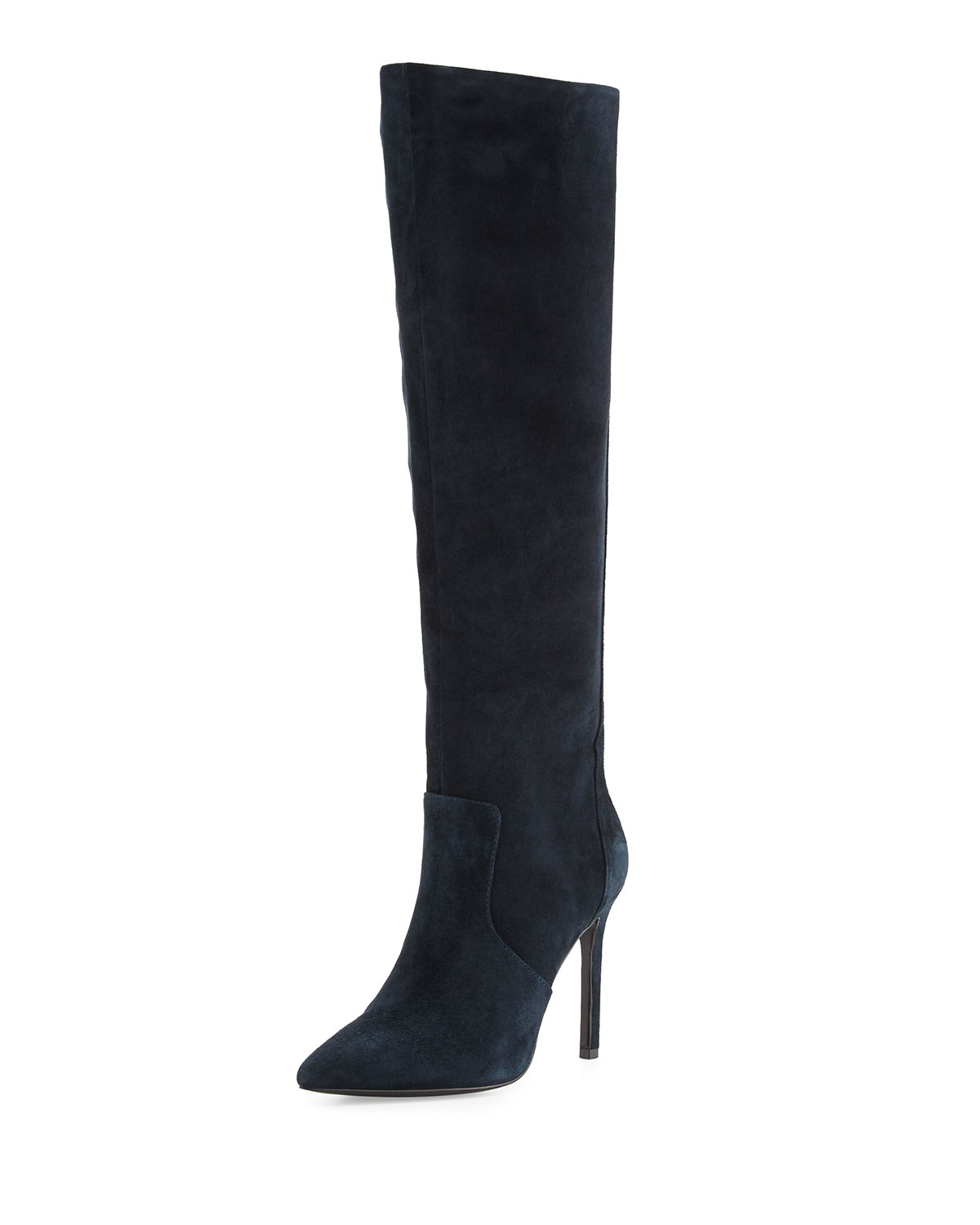 charles david constance suede high heel boot in blue lyst