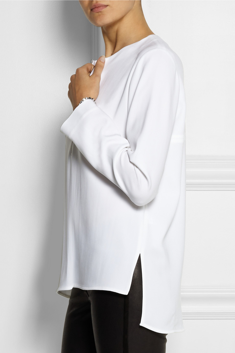 Crêpe top Stella McCartney From China Sale Online Manchester Clearance Best Wholesale Cheap Manchester Great Sale Deals For Sale 4O1PPMlof