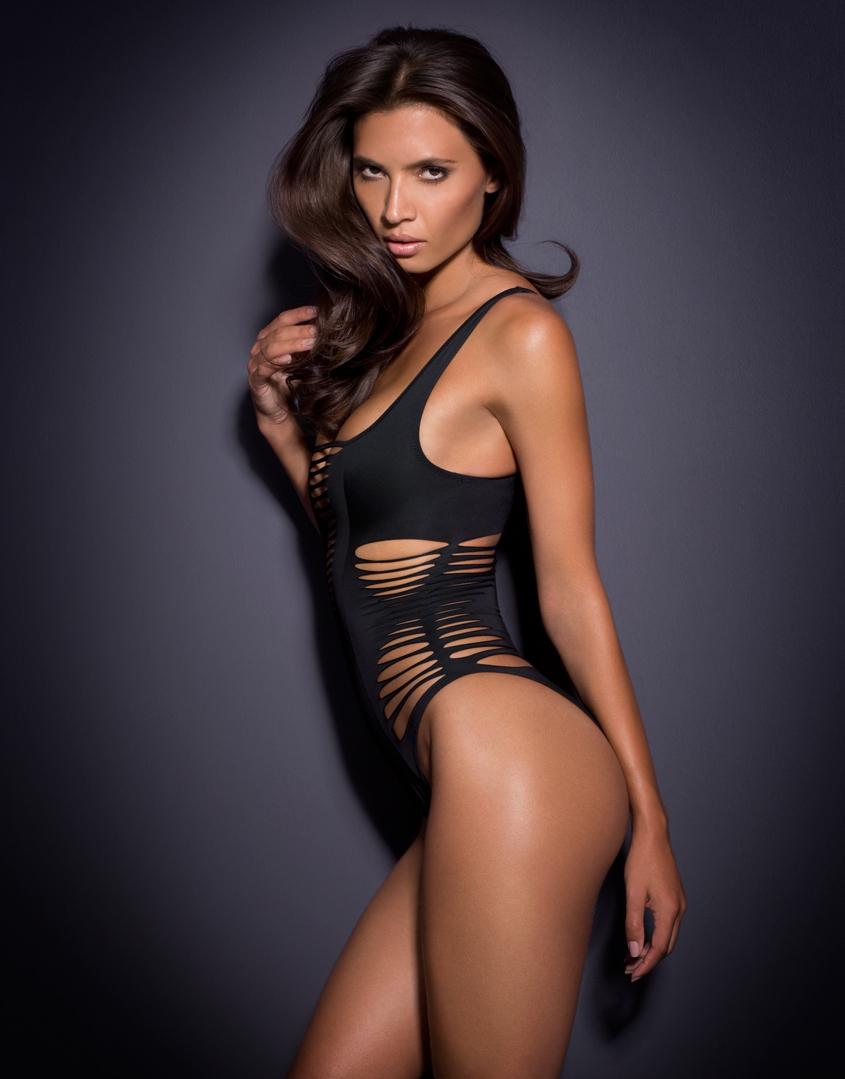 4f37975dff2e6 Agent Provocateur Dakotta Swimsuit Black in Black - Lyst