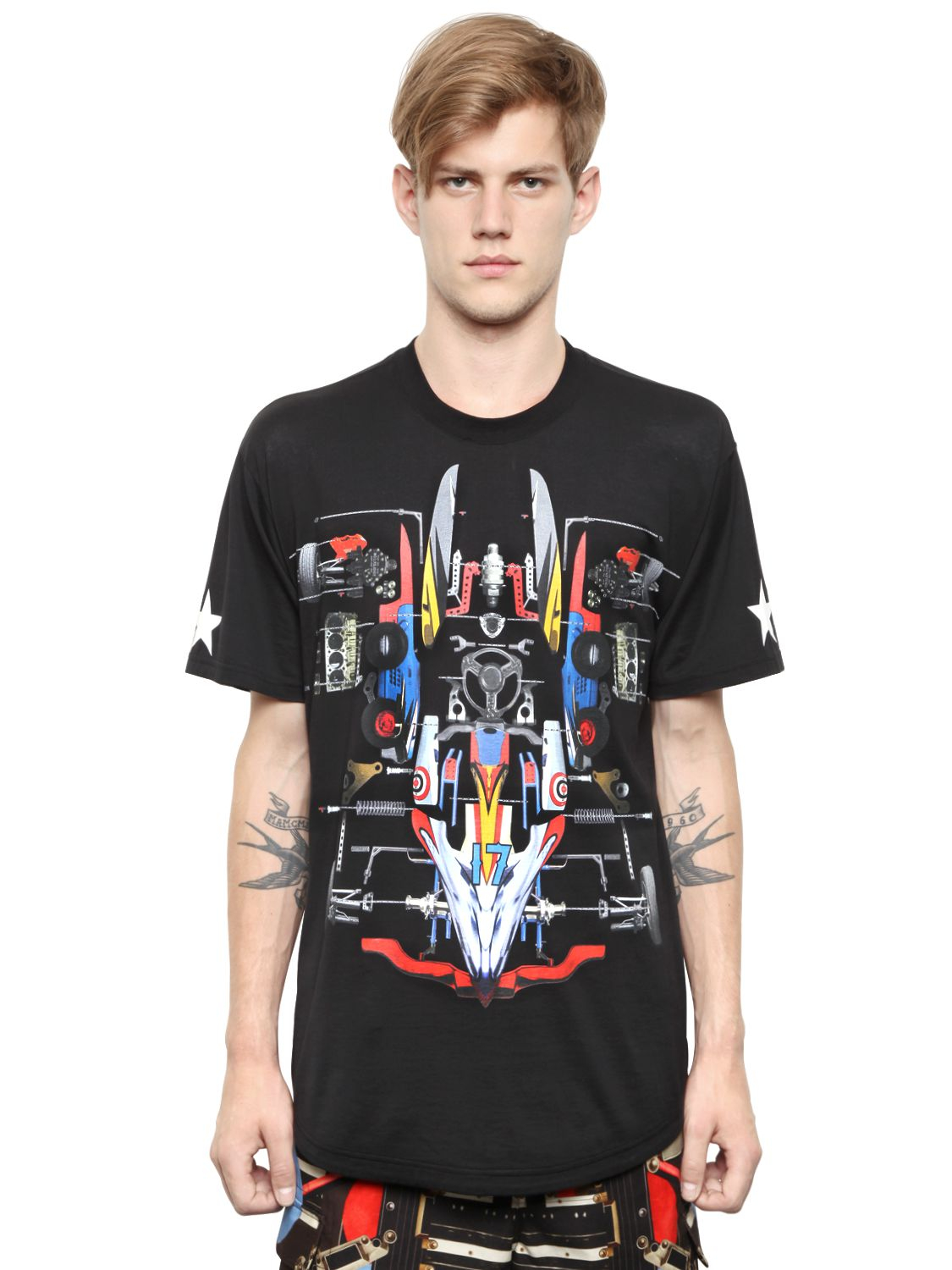 Givenchy Cotton Jersey Columbian Fit T Shirt In Multicolor