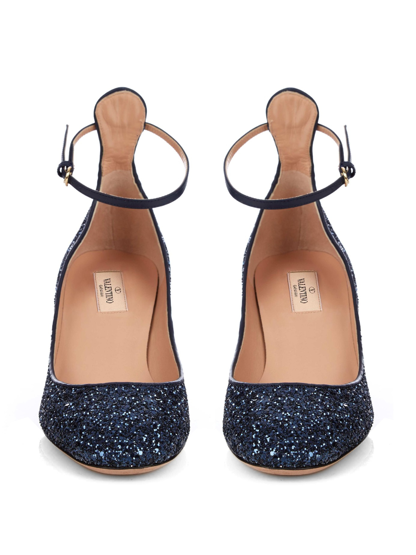 finishline Valentino Glitter Tan-go Pumps clearance finishline outlet release dates new cheap price free shipping top quality FgY95qZa