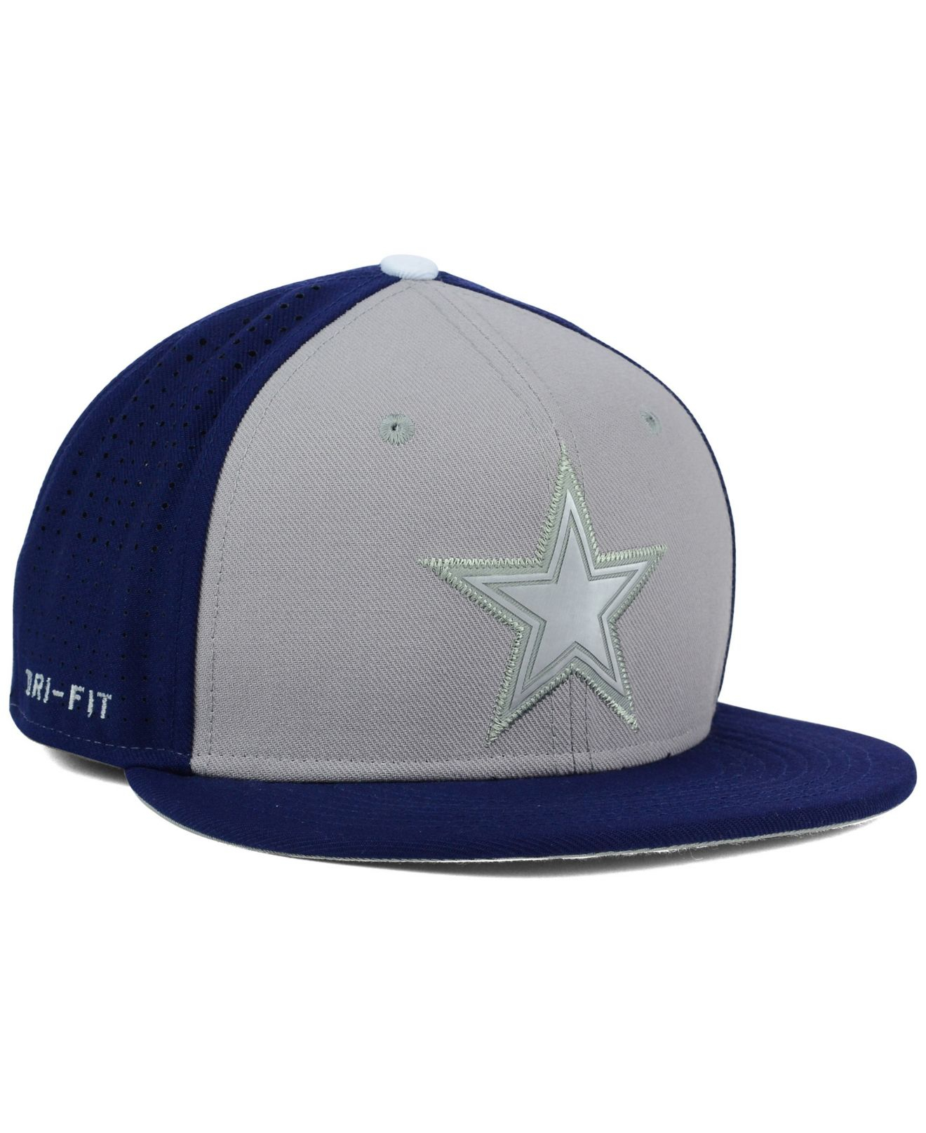 ... adjustable hat gray navy e9560 ccd6b  new zealand lyst nike dallas  cowboys true vapor fitted cap in gray for men dd942 48c02 8101c84c786b