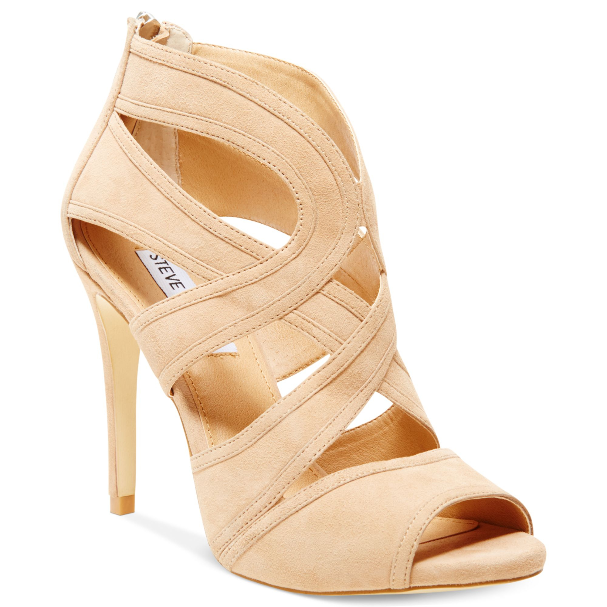 4dc5866430d Lyst - Steve Madden Womens Immence Strappy Sandals in Natural