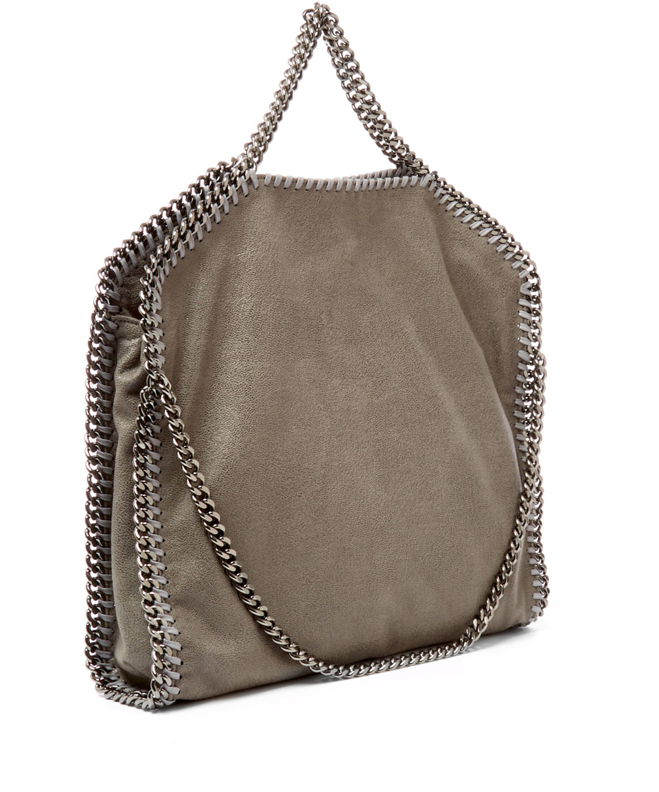 Lyst - Stella McCartney Light Grey Falabella Shaggy Deer Fold-over ... 065af1610937a