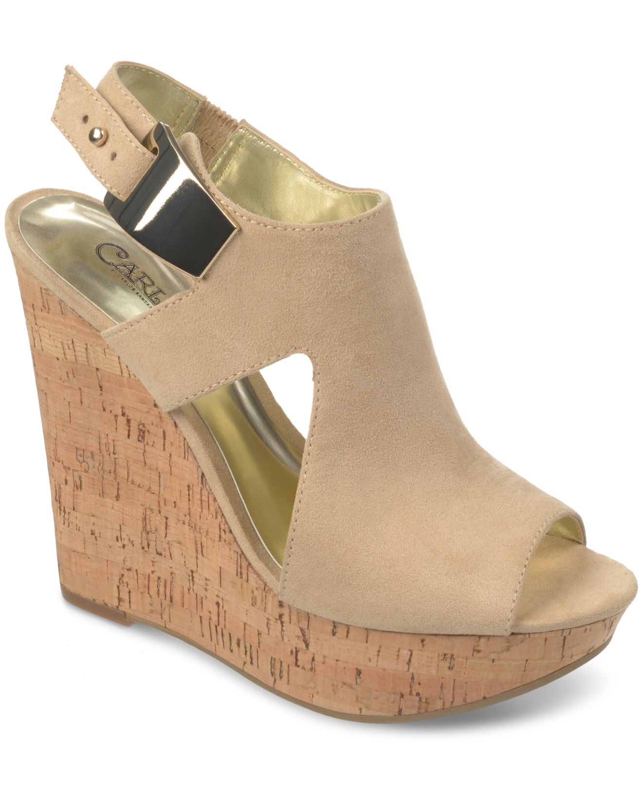ef739c63d048 Lyst - Carlos By Carlos Santana Malor Platform Wedge Sandals in Natural