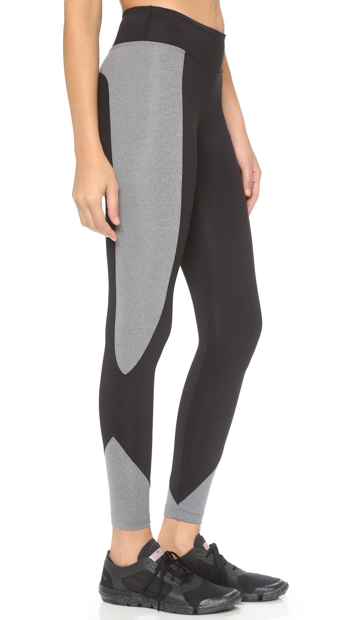 Koral activewear Makoto Curve Crop Leggings - Heather Grey/black ...