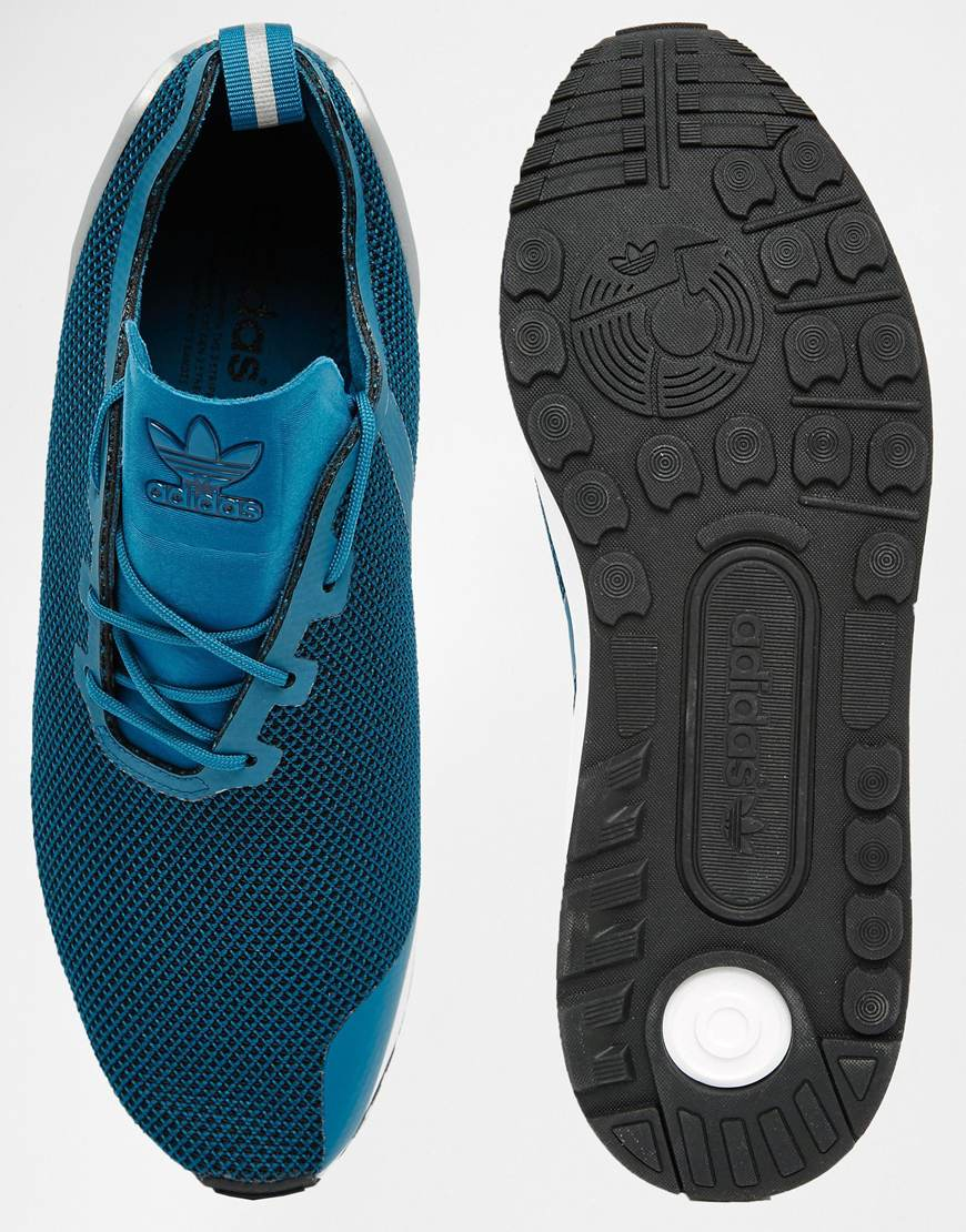 ce125aecf ... authentic lyst adidas originals asymmetrical zx flux trainers aq6657 in  blue 1dfee 2b4ab