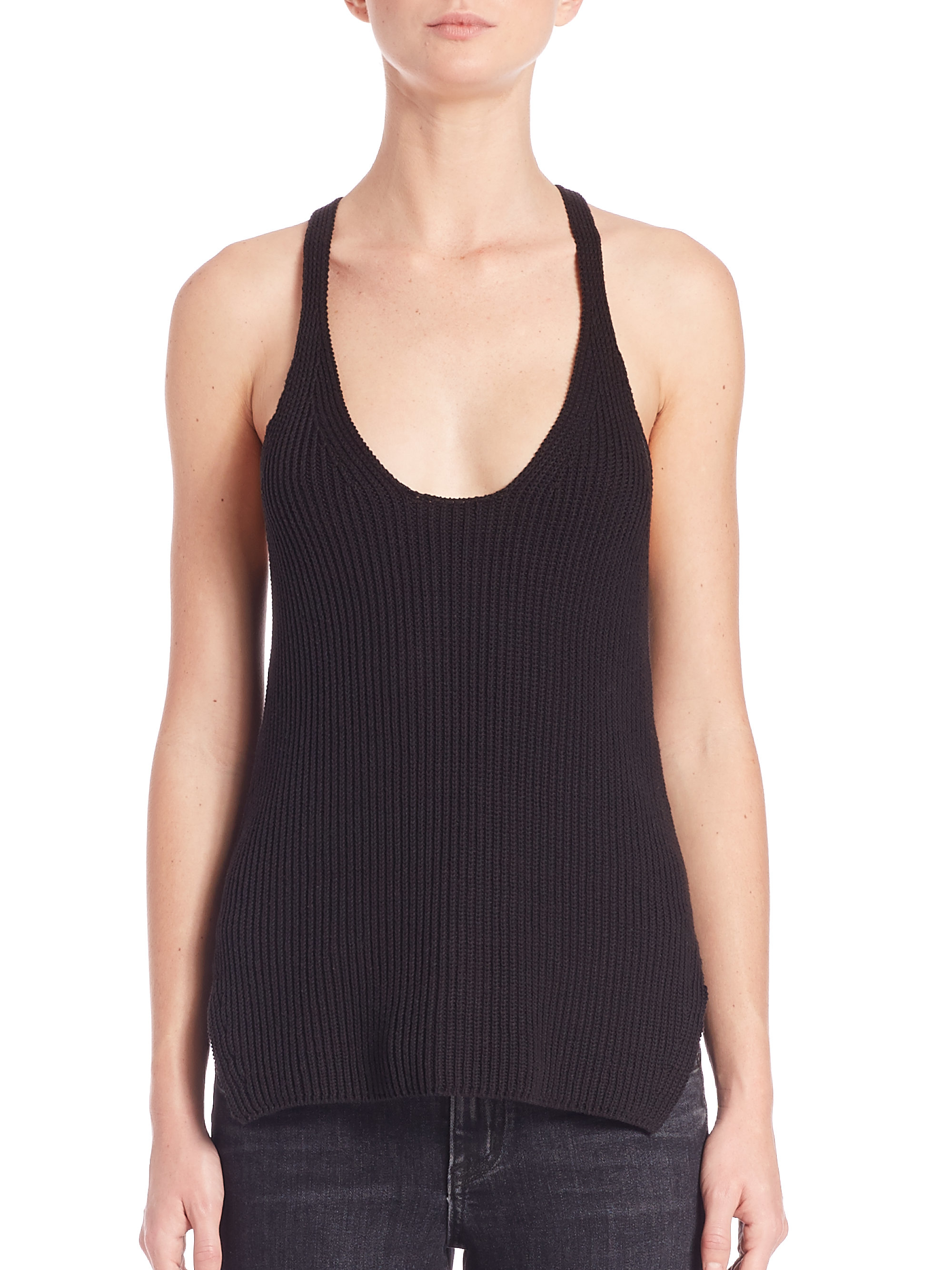ribbed tank top - Black Helmut Lang Get The Latest Fashion Outlet With Credit Card Affordable Free Shipping Shopping Online 5hmrPyT