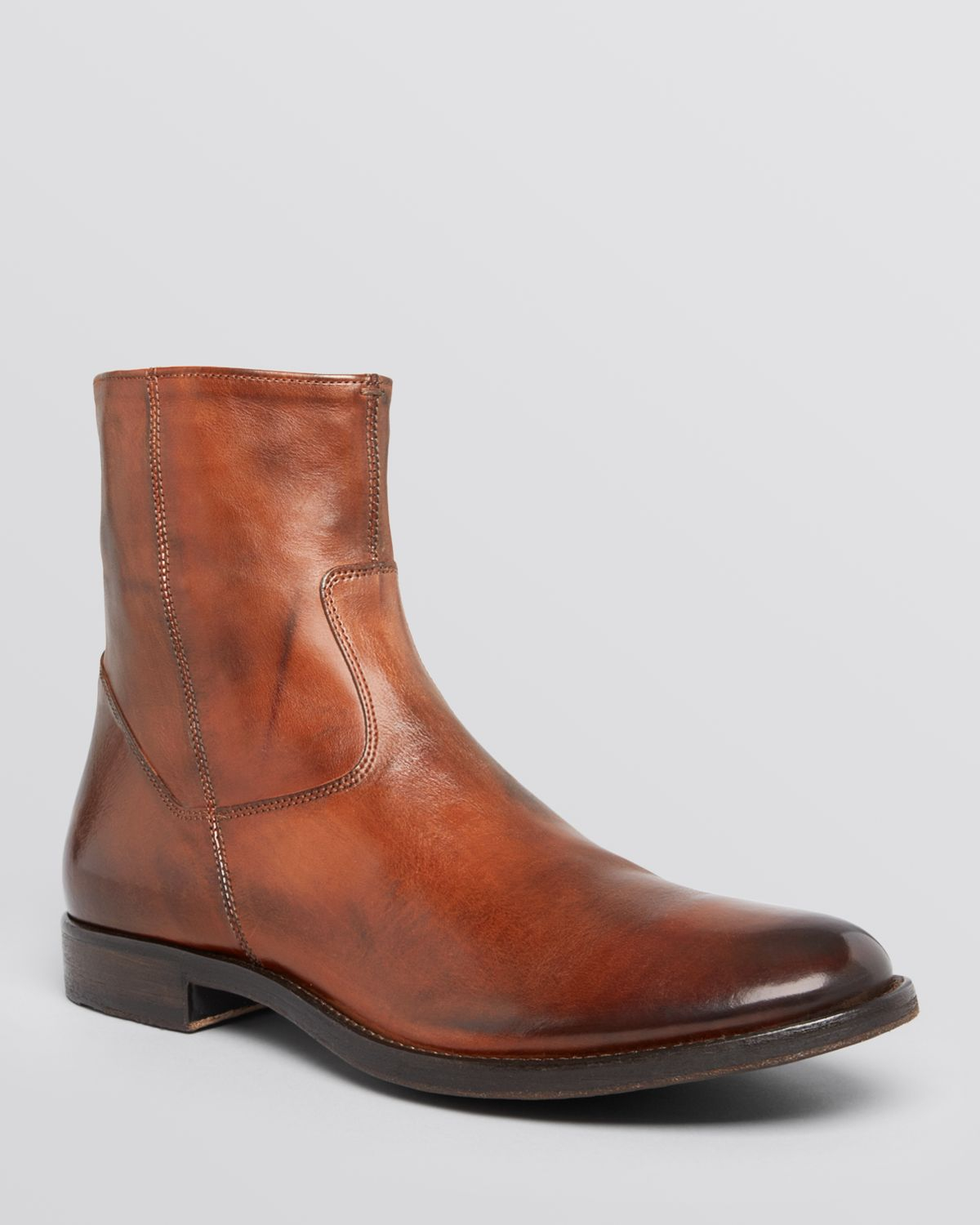 To boot Scott Side Zip Boots in Brown for Men | Lyst