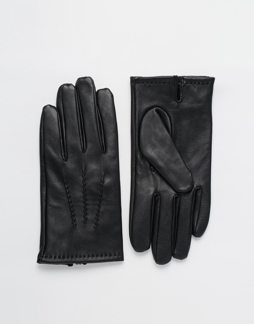 Mens leather gloves dents - Dents Aviemore Touch Leather Gloves In Black For Men Lyst