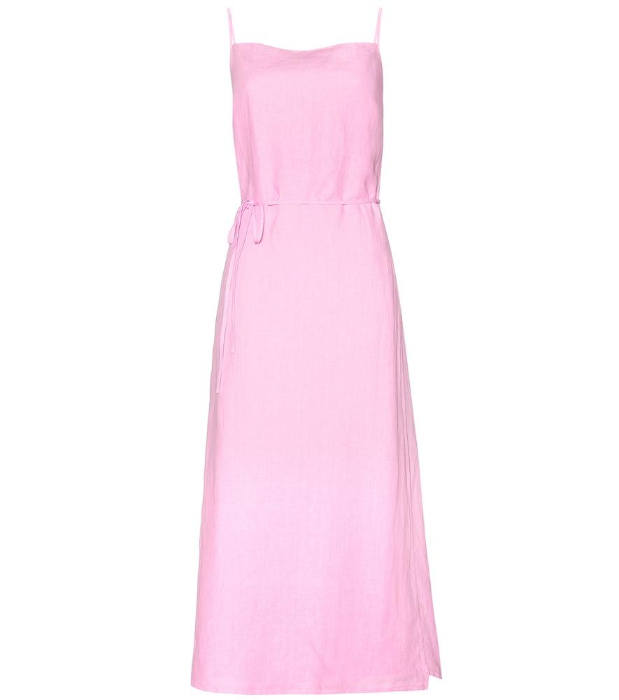 eda0b2eee8a Lyst - Tomas Maier Linen Midi Dress in Pink