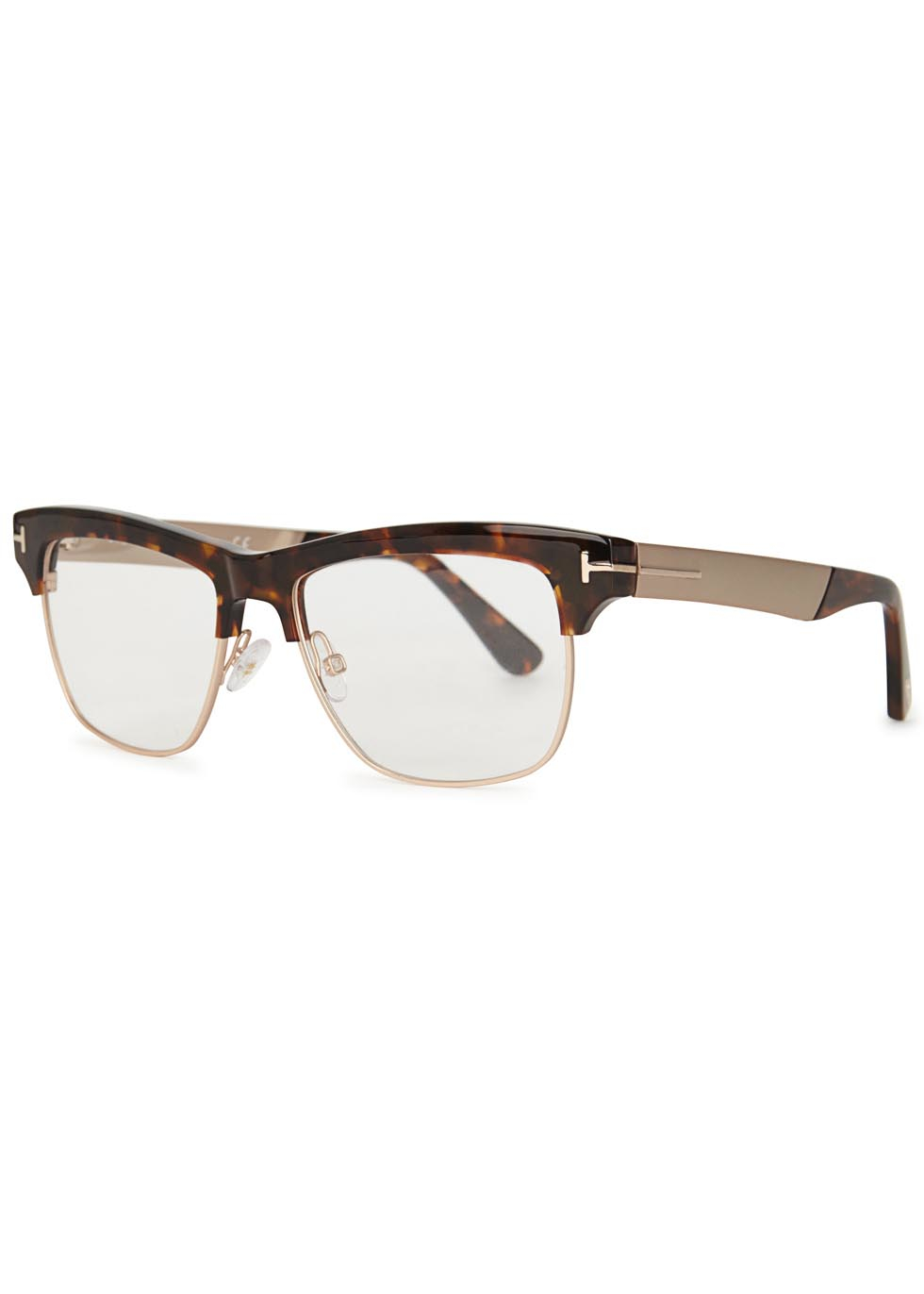 e342e02ae70 Tom Ford Tortoiseshell Clubmaster-style Optical Glasses in Brown for ...