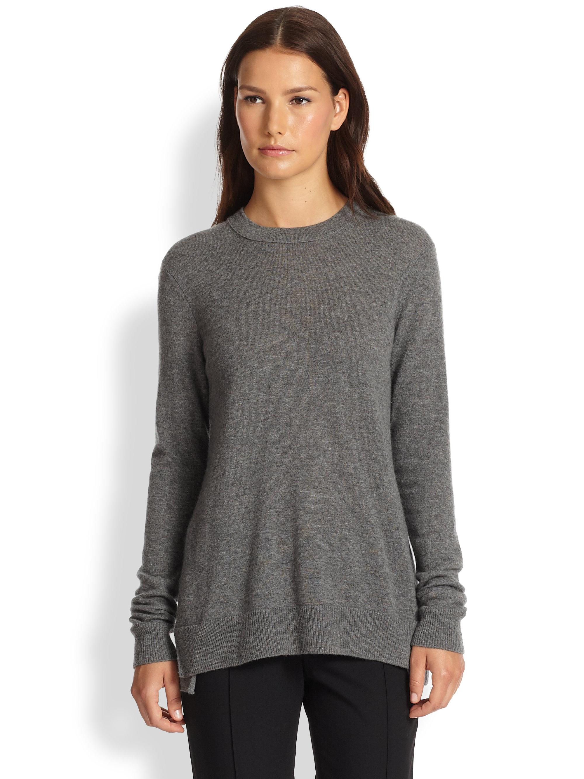 Clearance Online Wholesale Price Sale Online round neck sweater - Grey Vince Sale Professional Explore Cheap Price ckcxAZEk