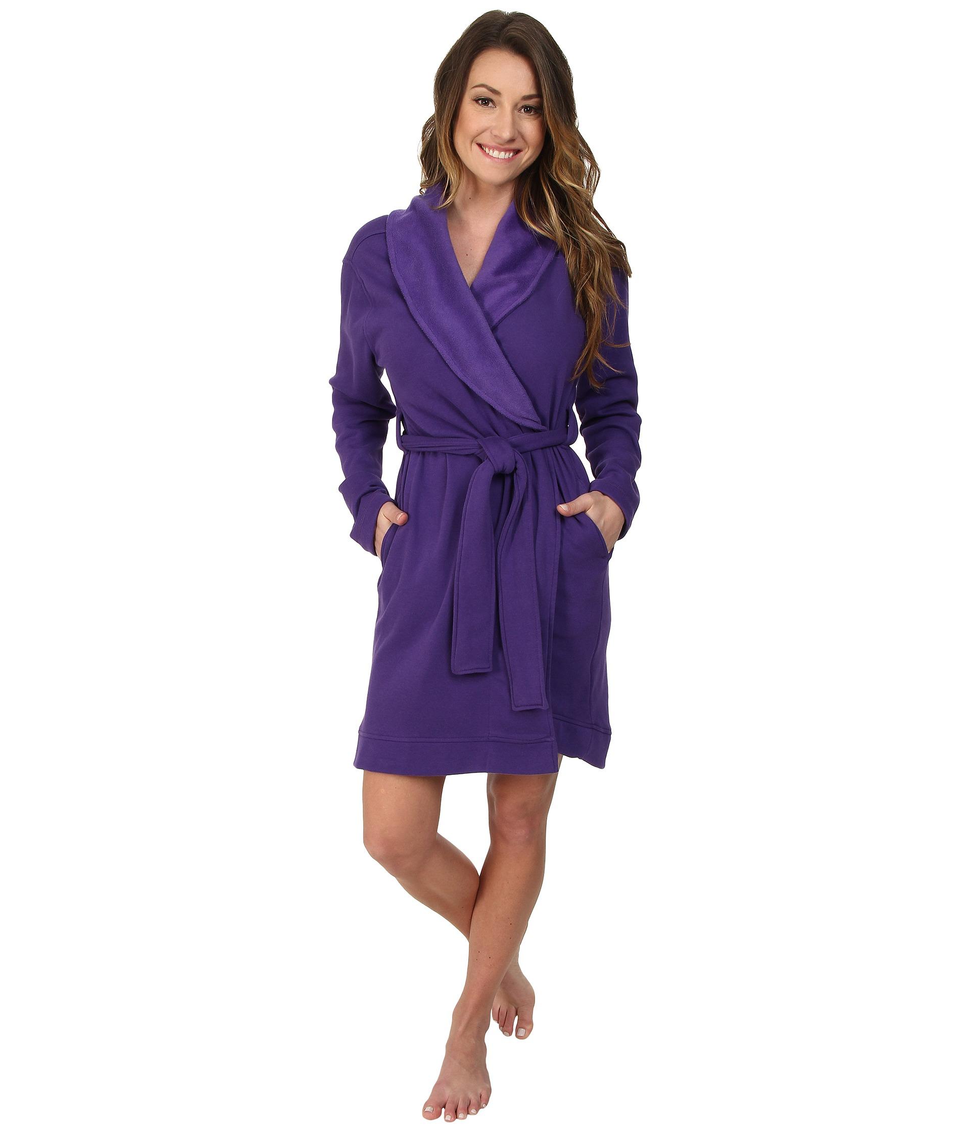 lyst ugg blanche robe in purple. Black Bedroom Furniture Sets. Home Design Ideas