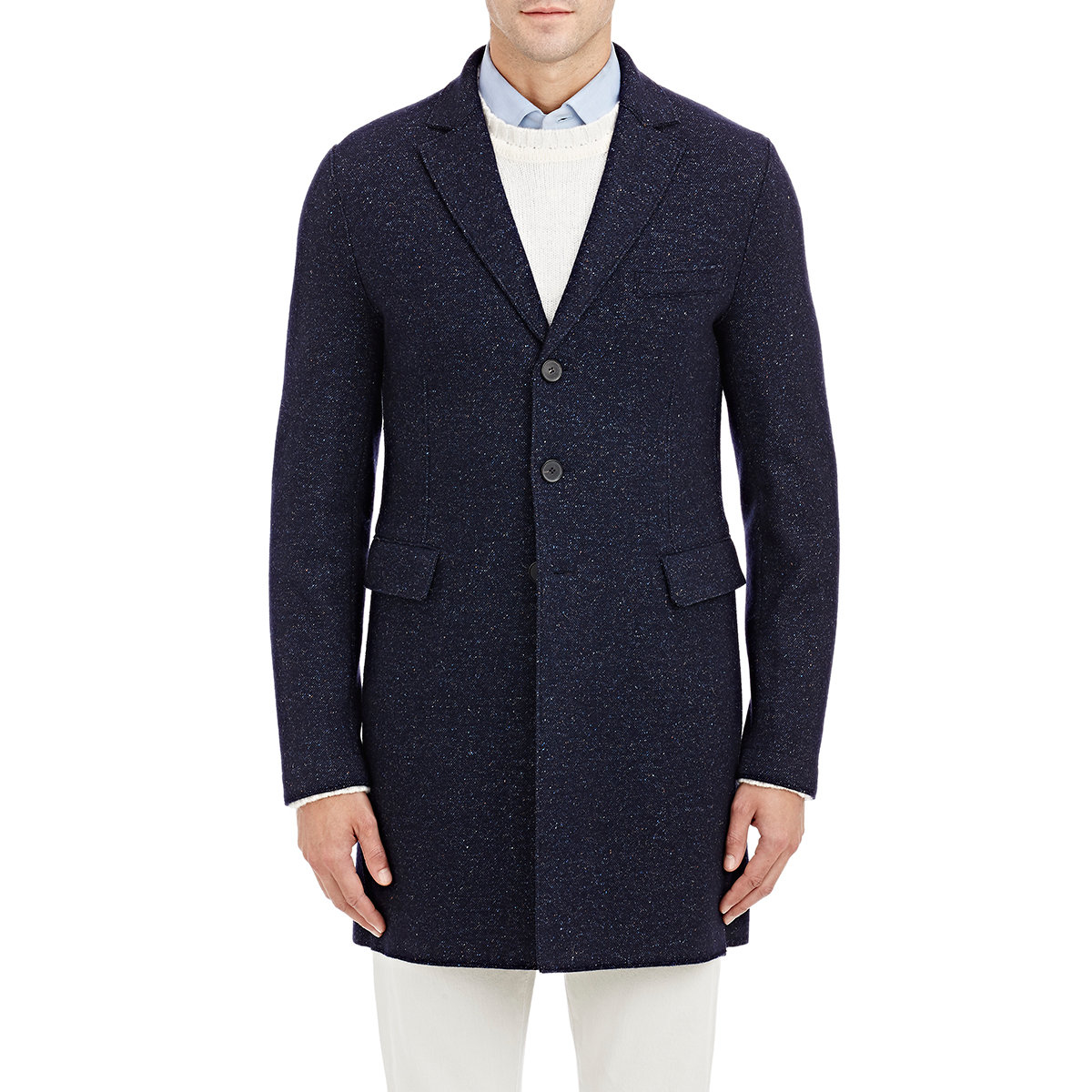 harris wharf london chester deconstructed coat in blue for men lyst. Black Bedroom Furniture Sets. Home Design Ideas