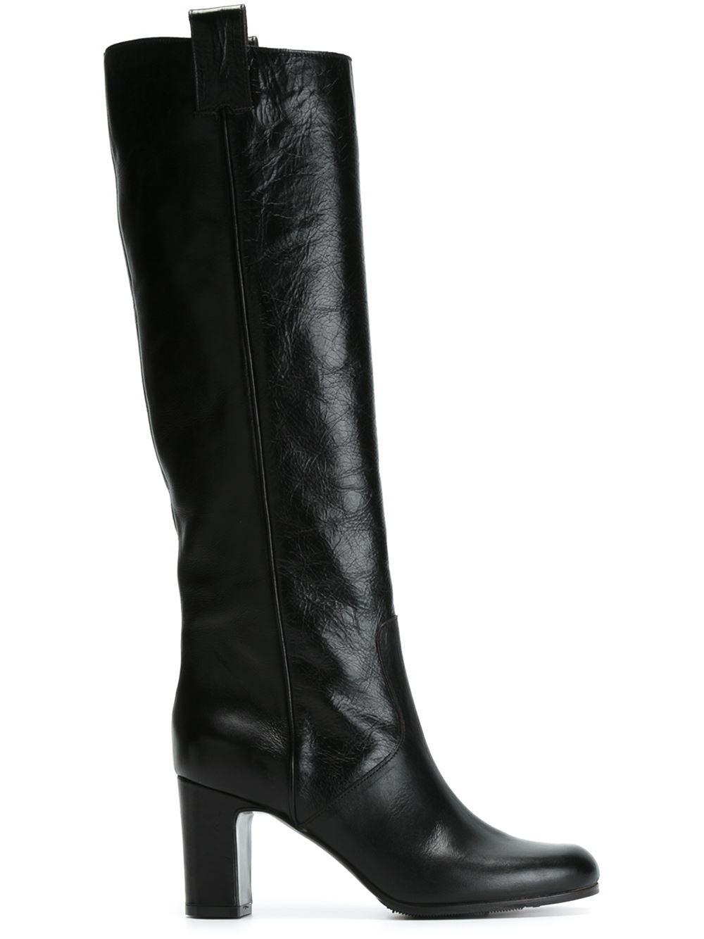 l autre chose knee length leather boots in black lyst