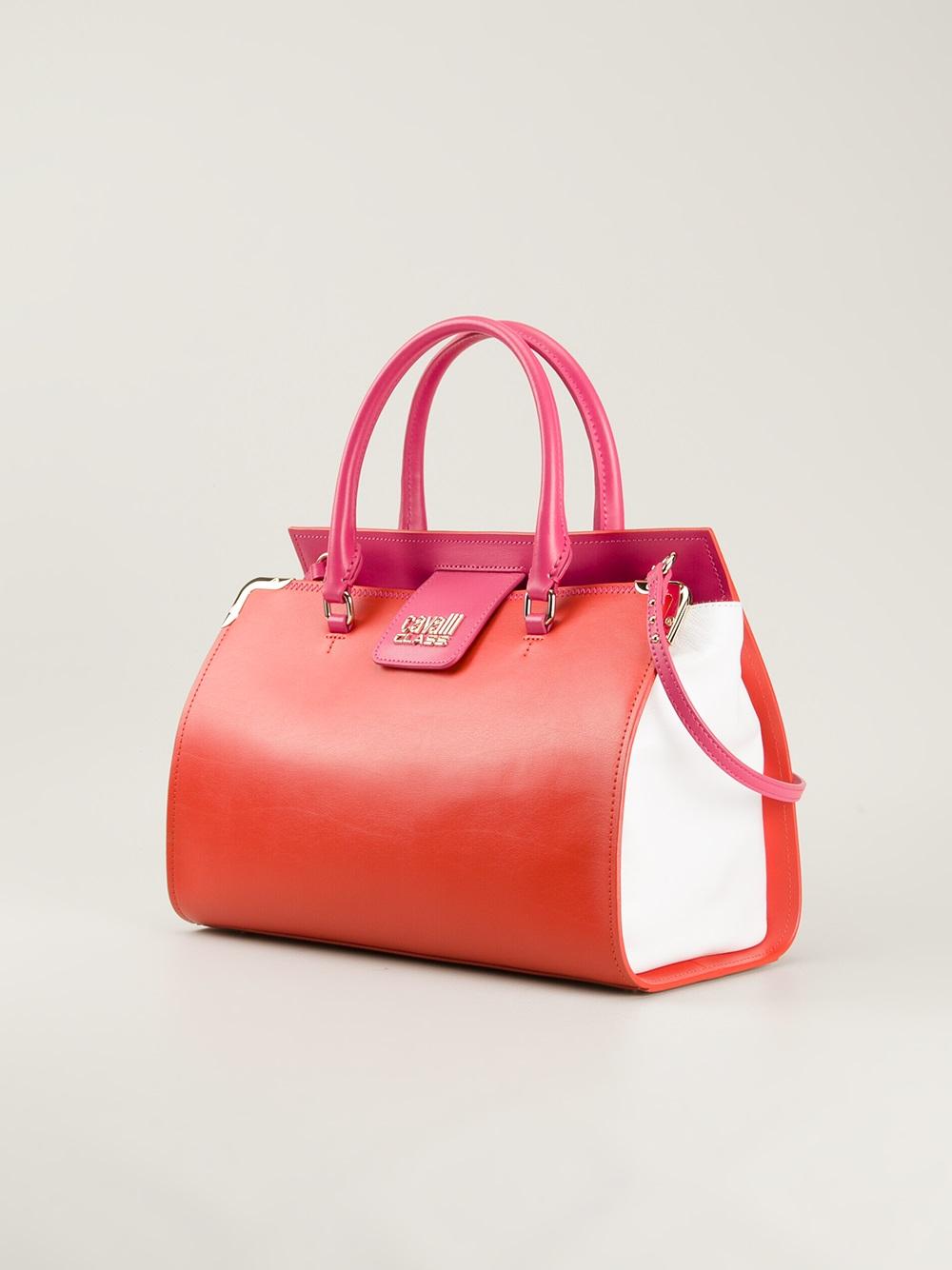 Class Roberto Cavalli | Orange Small Bowling Bag | Lyst