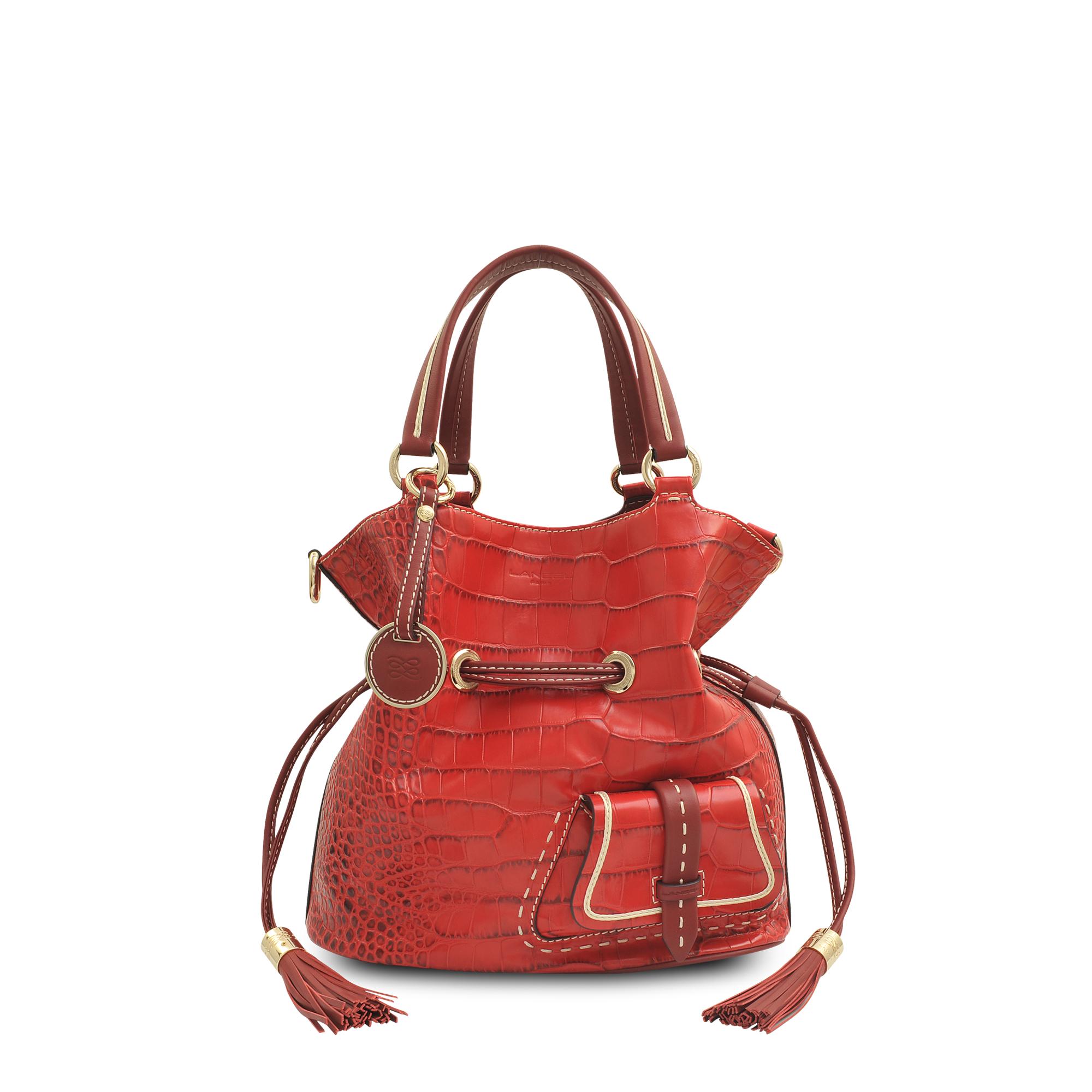 c5c6ab2adf44 Lancel Premier Flirt Bucket Bag in Red - Lyst