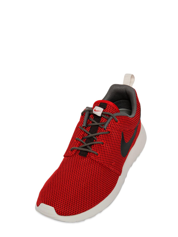 ... italy lyst nike roshe run nylon mesh sneakers in red for men b2940 d517a 19d4763fb