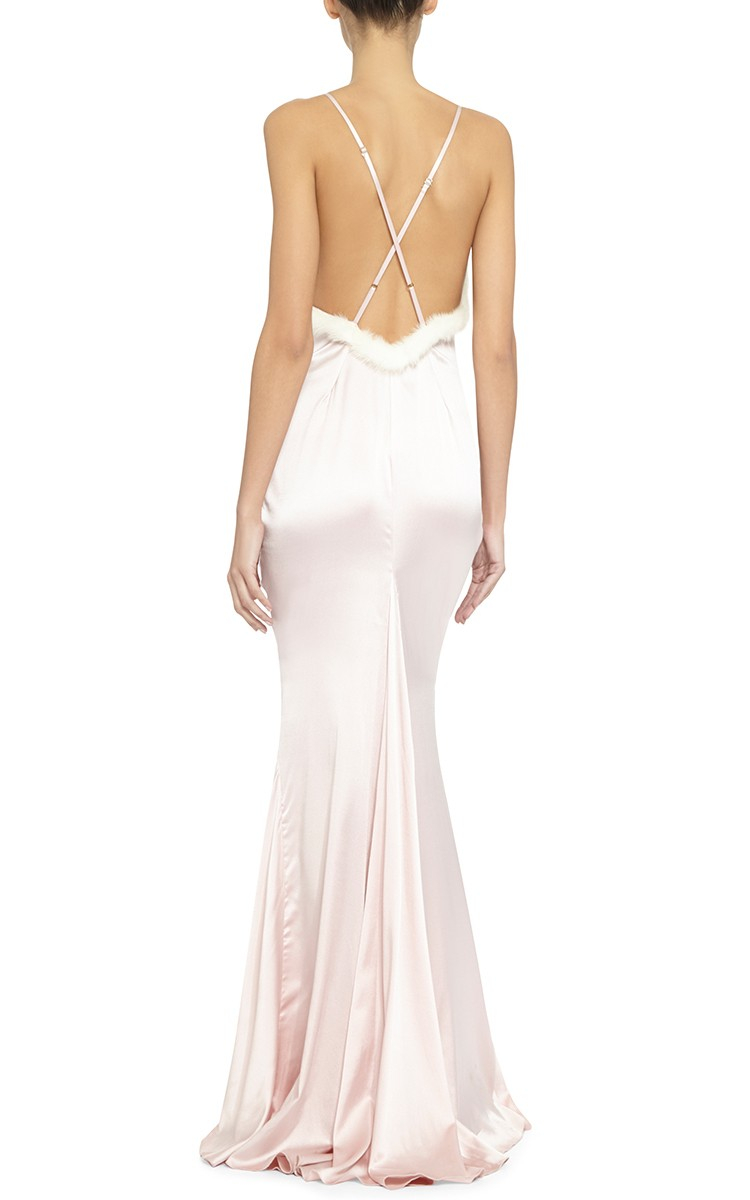 Rosamosario Felina Passione Long Slip Dress in Pink  Lyst