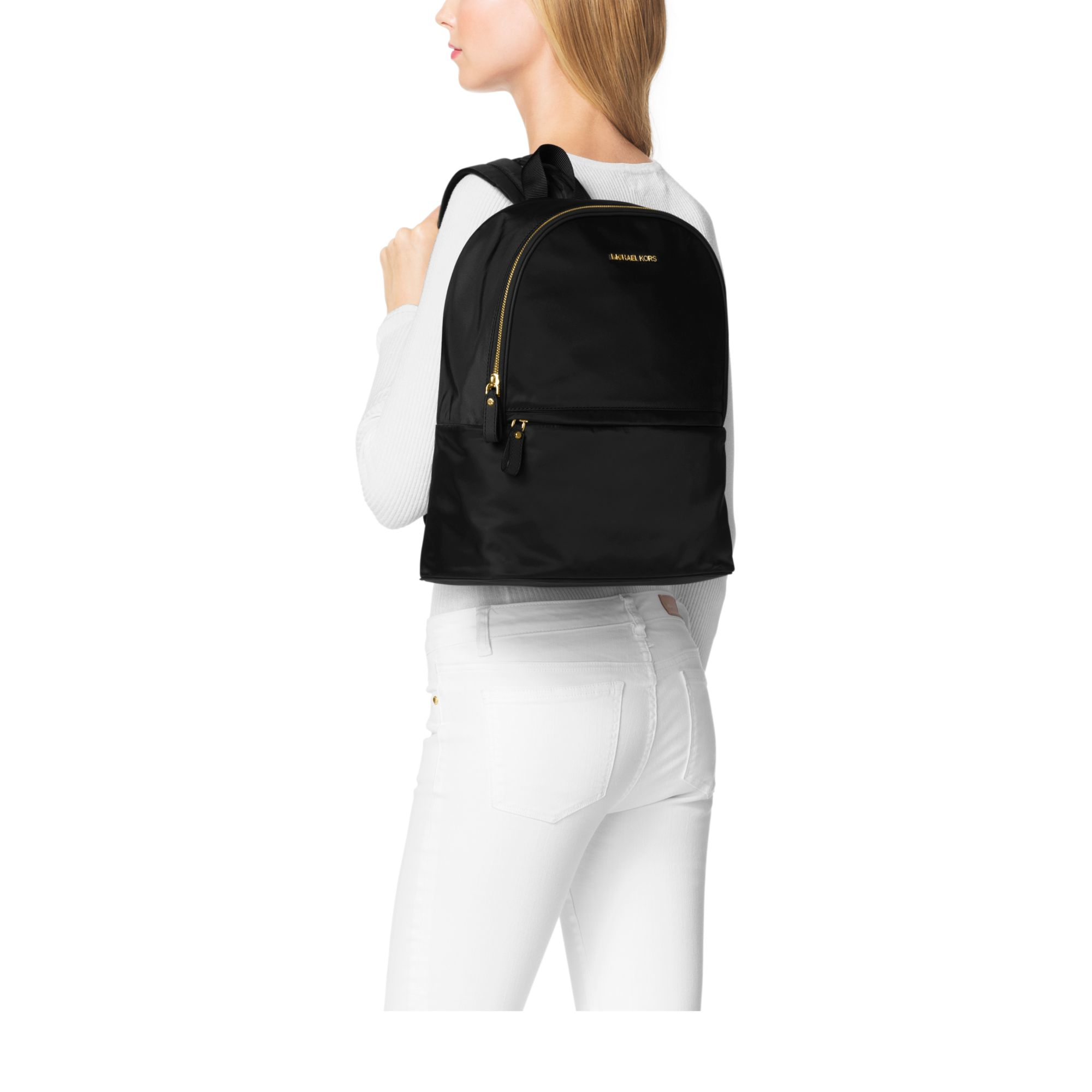 d205fb3f360c Michael Kors Kieran Large Nylon Backpack in Black - Lyst