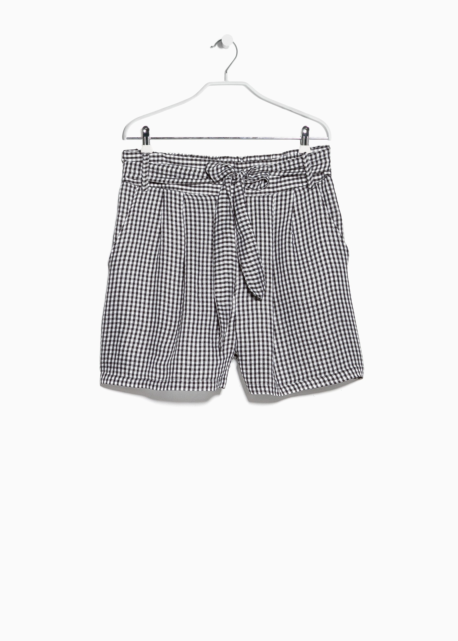 Mango Gingham Check Bermuda Shorts in Black for Men | Lyst