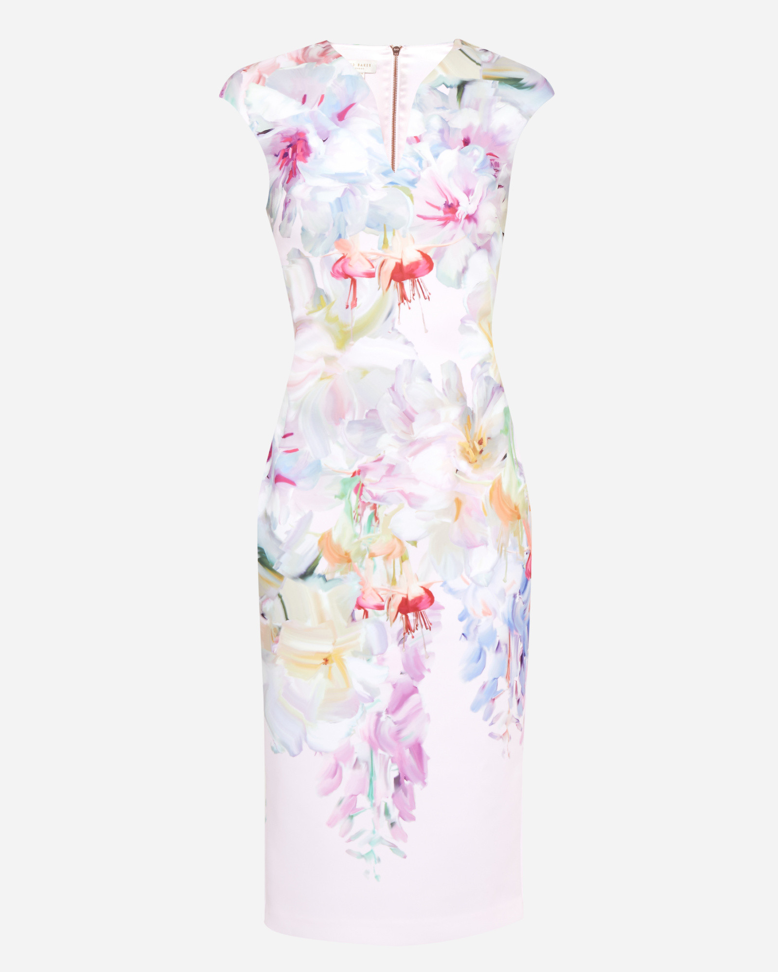 cf03c6877870b Lyst - Ted Baker Hanging Gardens Bodycon Dress