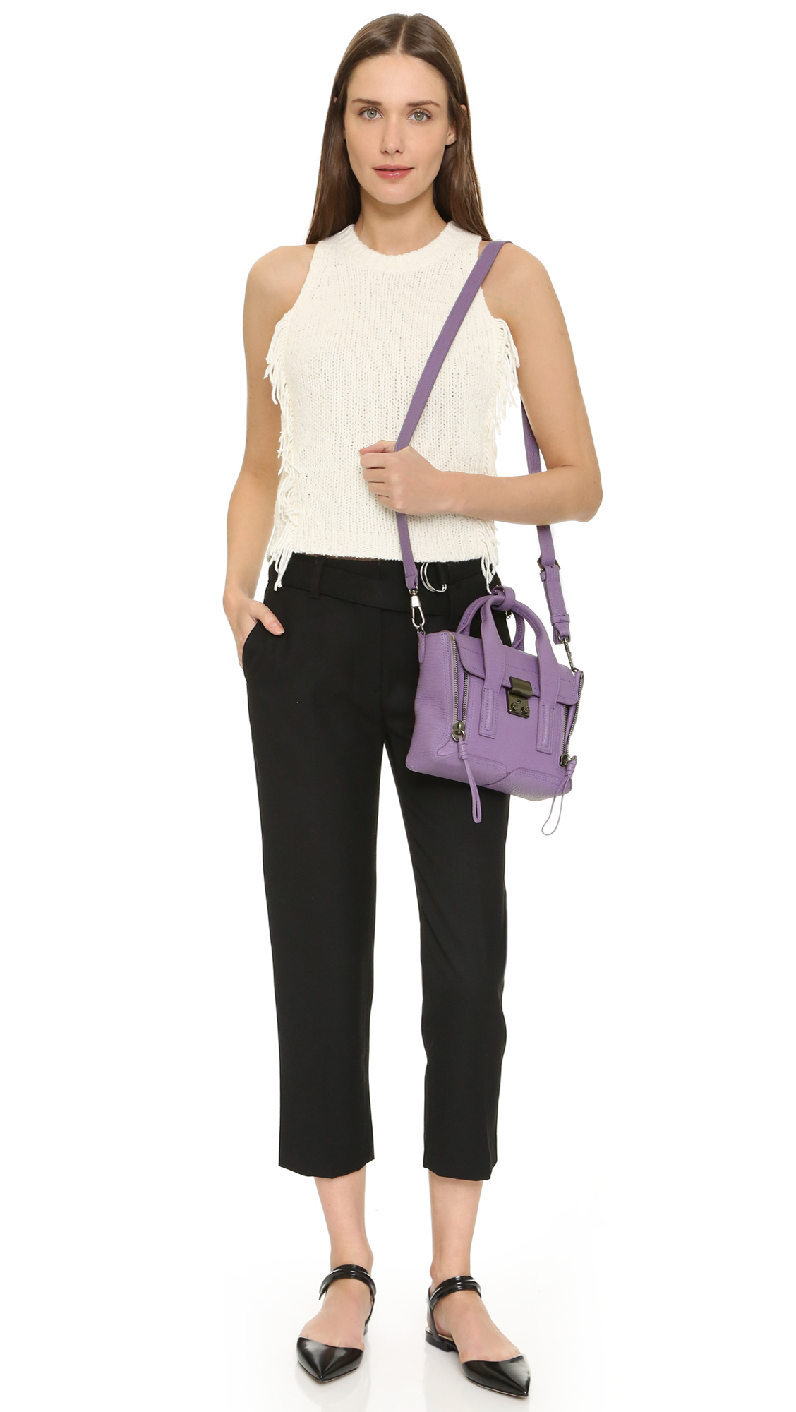 6a322d123d5 Lyst - 3.1 Phillip Lim Pashli Mini Satchel in Purple