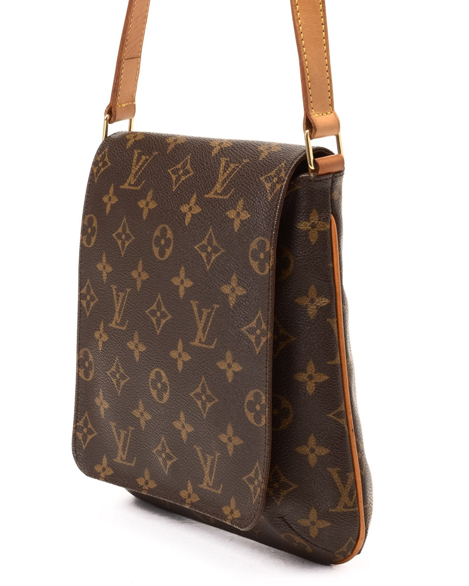 1a2ff9c74fad Lyst - Louis Vuitton Coated Canvas Shoulder Bag - Vintage in Brown