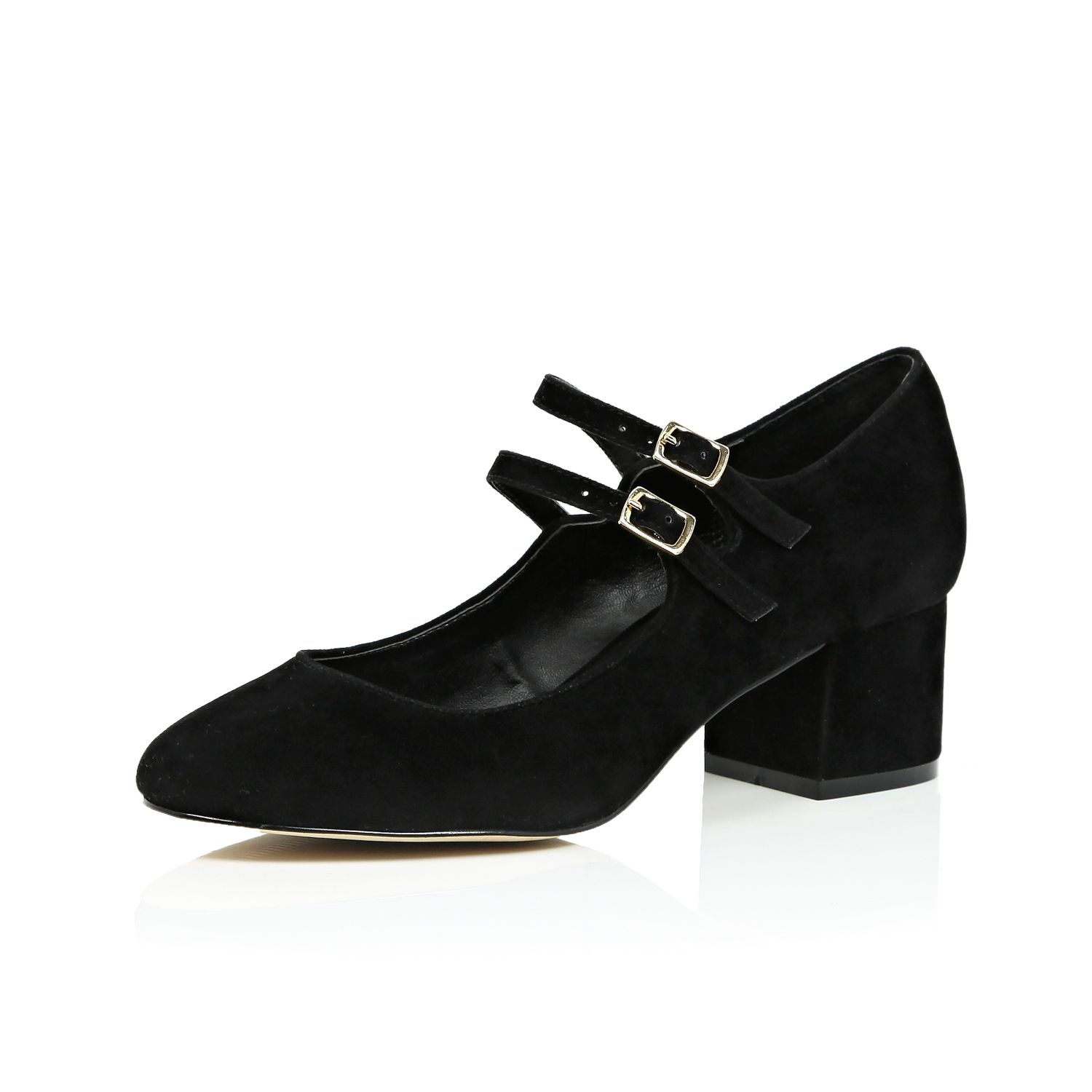 River Island Black Mary Jane Shoes