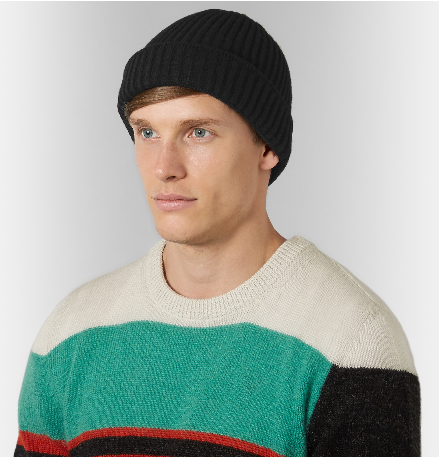 Acne Studios Ribbed Wool Beanie in Black for Men - Lyst 4ebb3c9479c