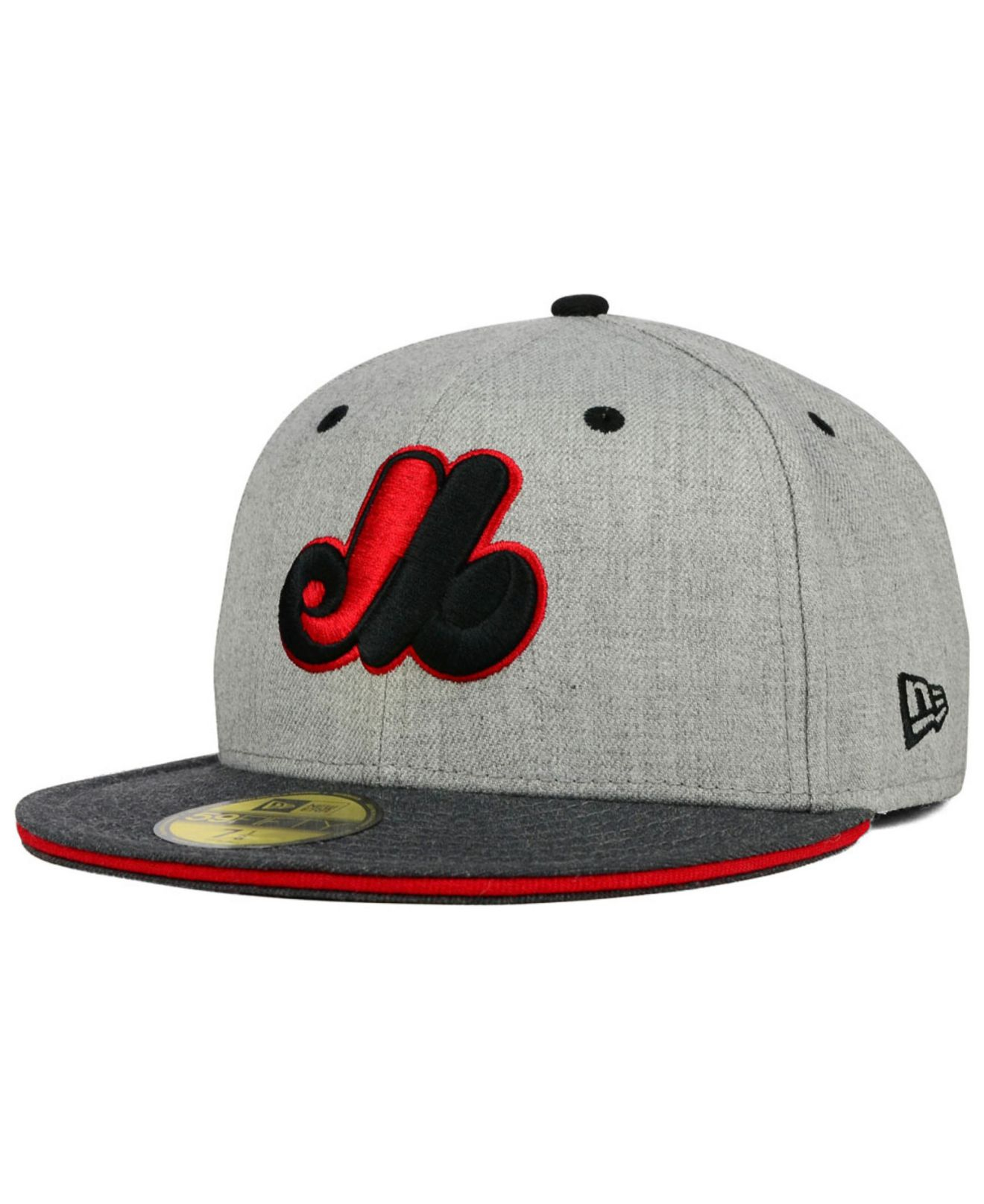 078261cb2 ... official store lyst ktz montreal expos heather shadow 59fifty cap in  gray for men 06a41 63885