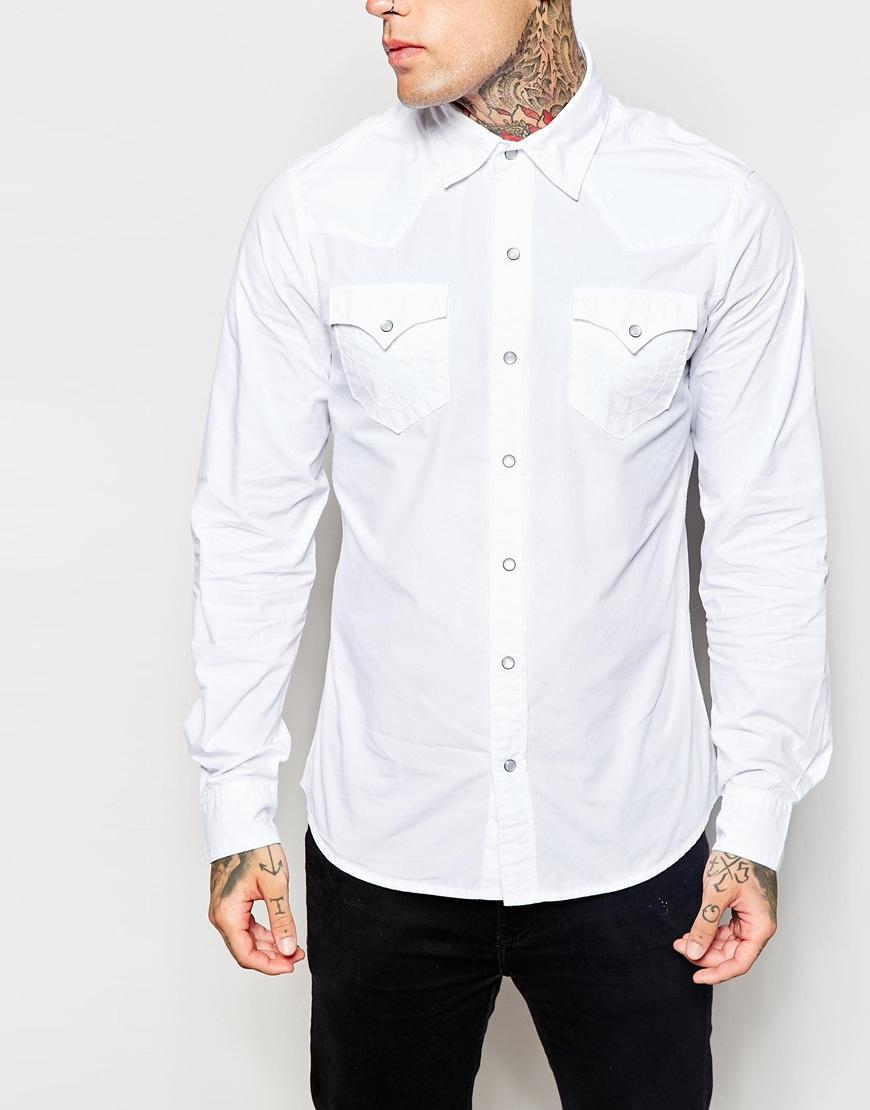 ded12d36d True Religion Shirt Jake Western in White for Men - Lyst